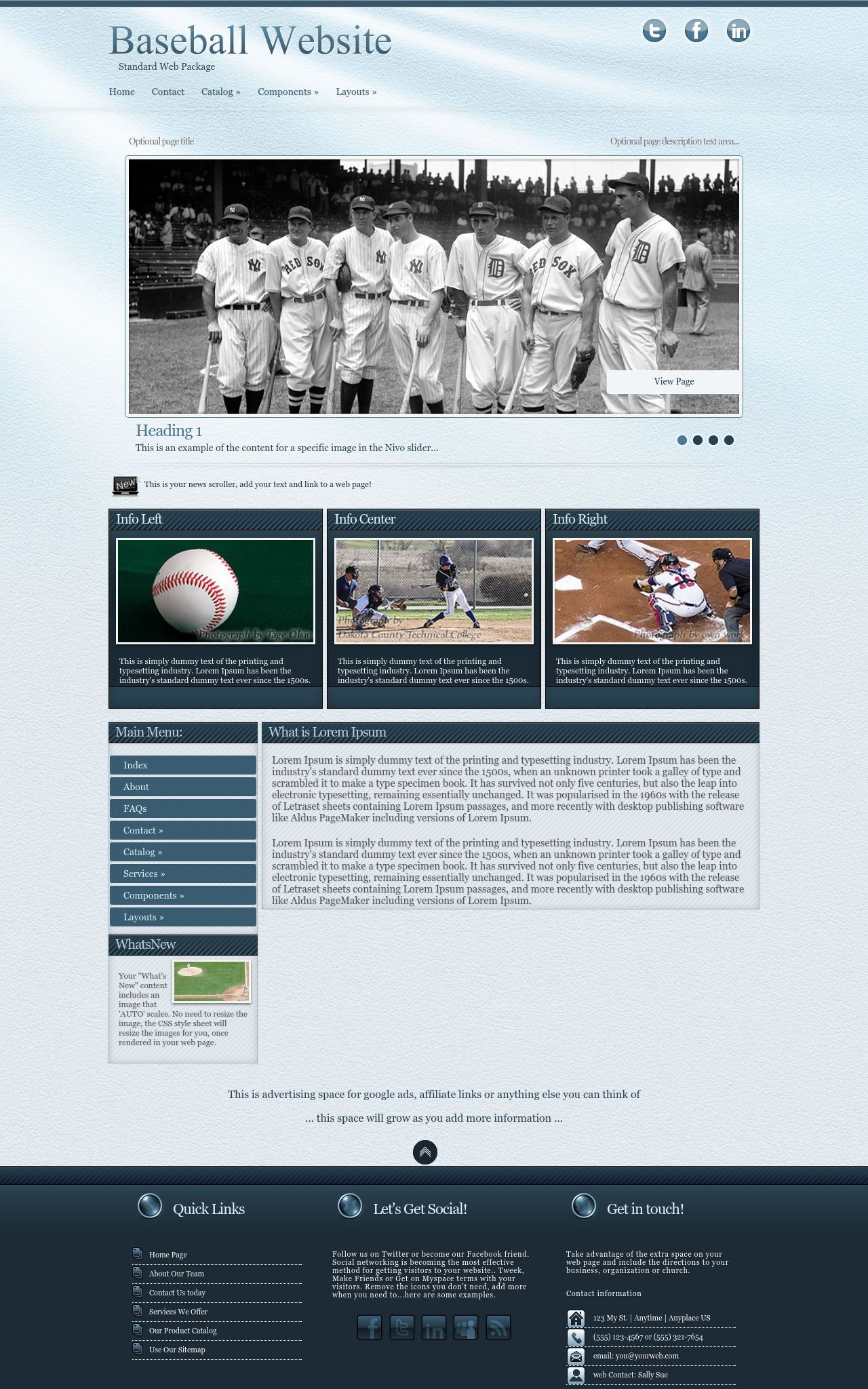 Baseball Wordpress Themes