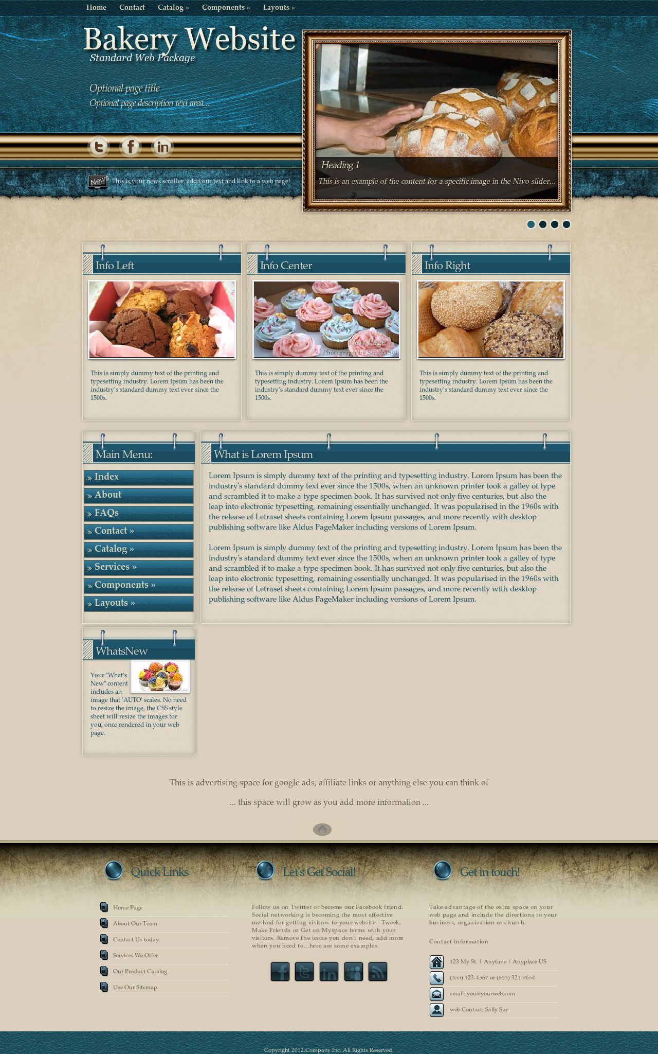 Bakery Wordpress Themes