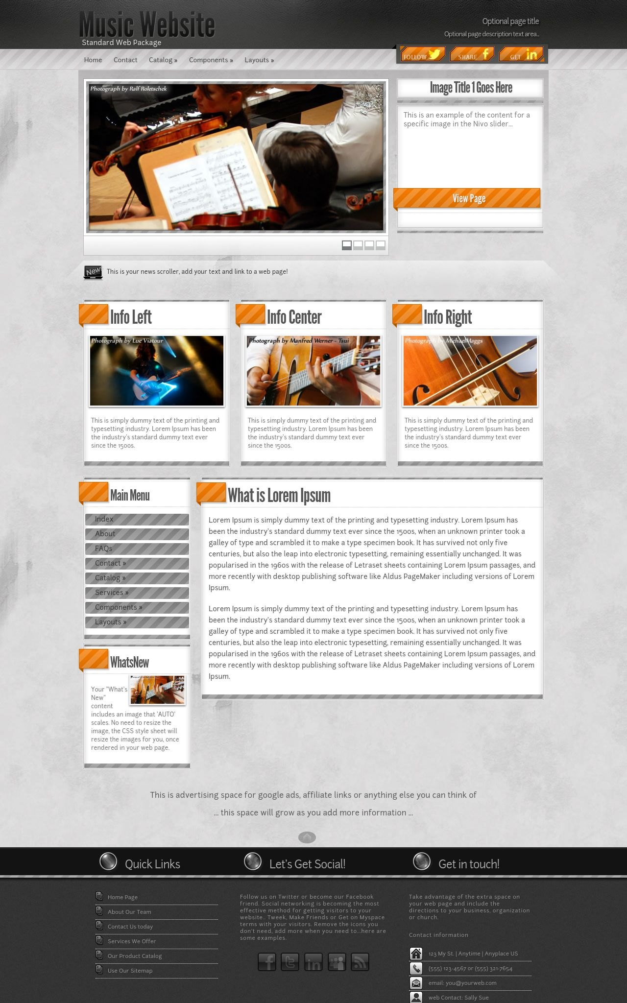 Desktop: Music Web Template