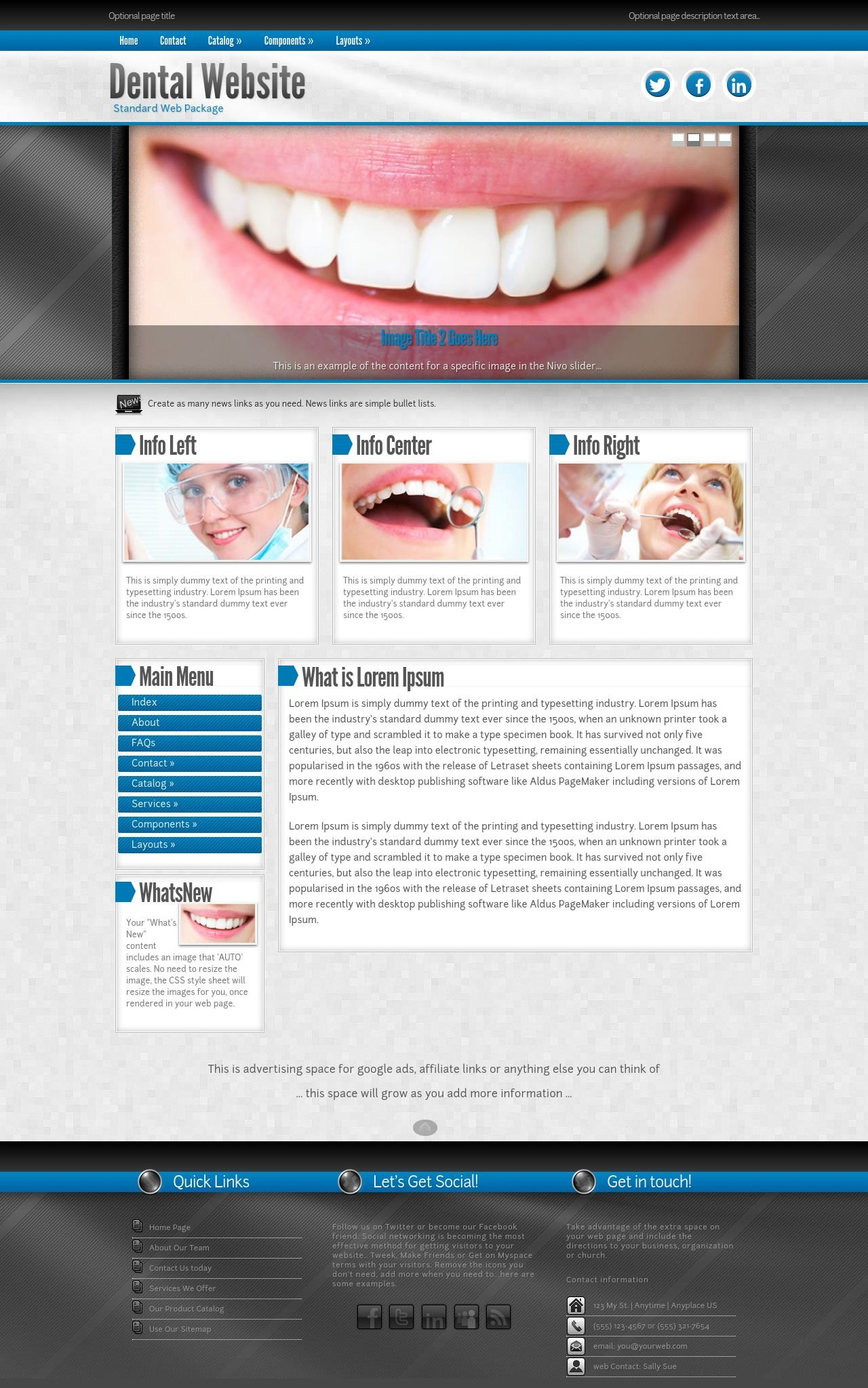 Desktop: Dental Web Template