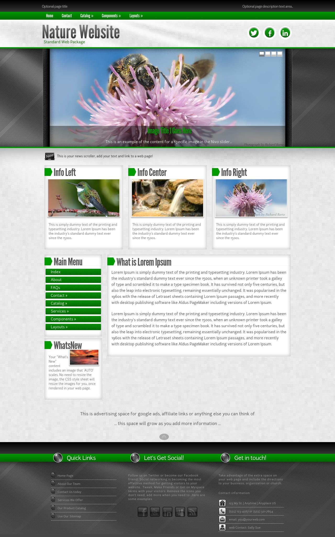 Nature Web Templates