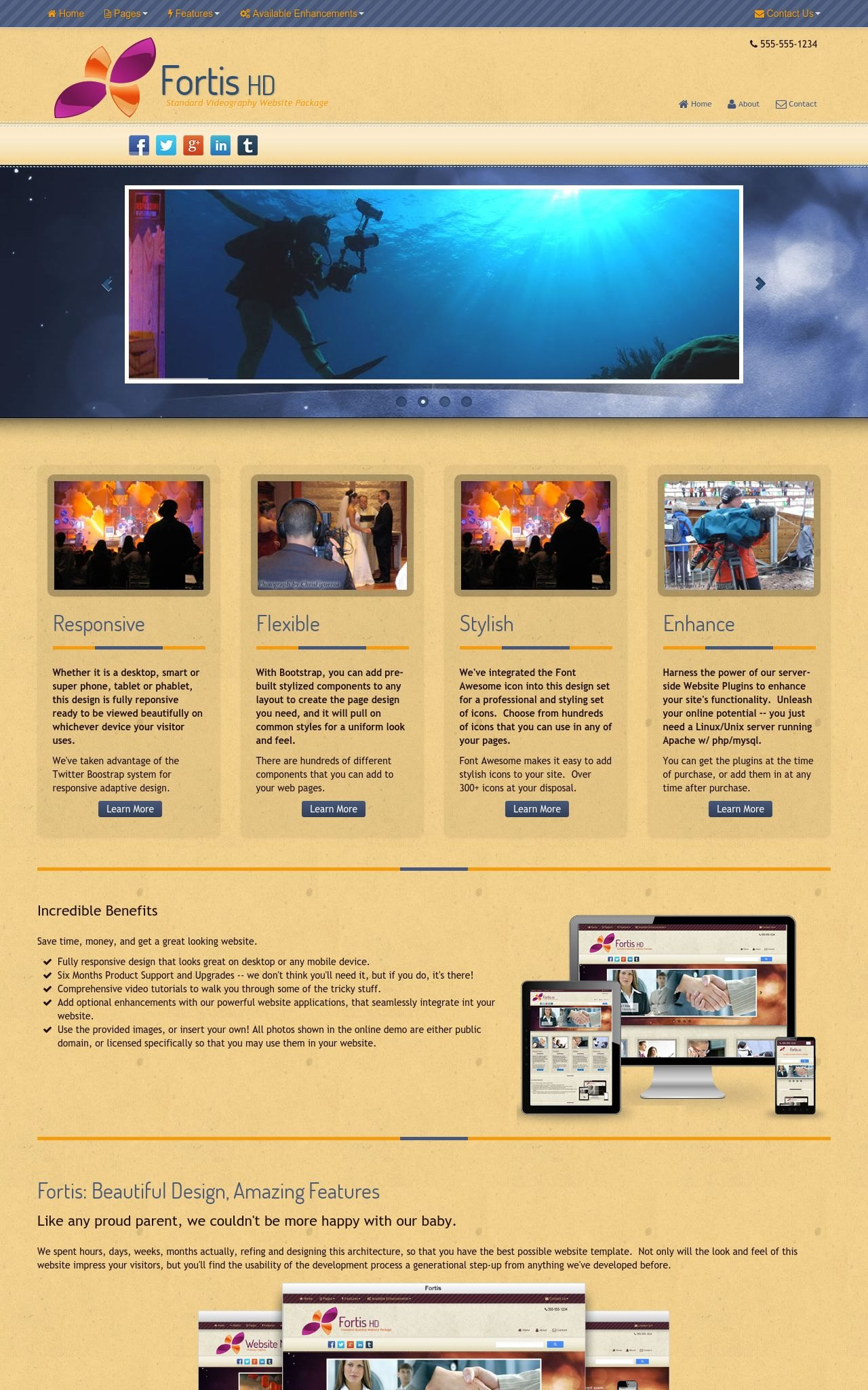 Tablet: Videography Web Template