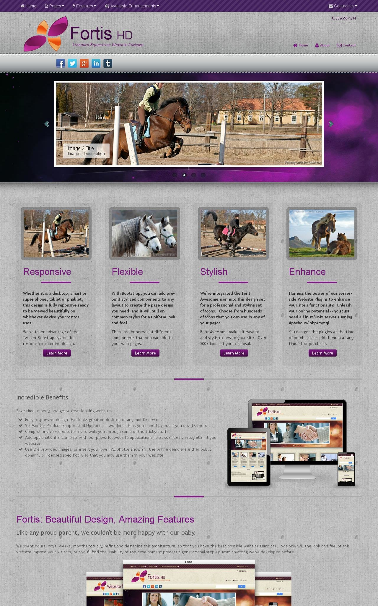 Tablet: Equestrian Dreamweaver Template