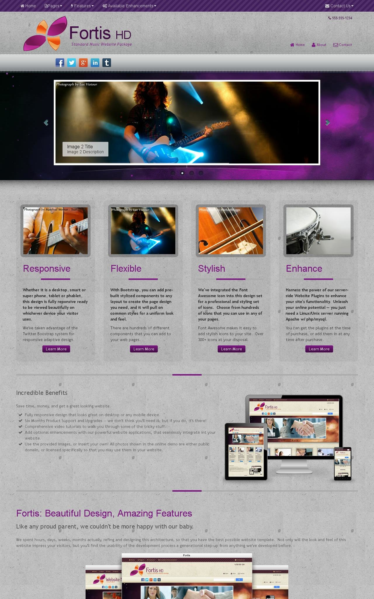 Music Dreamweaver Templates