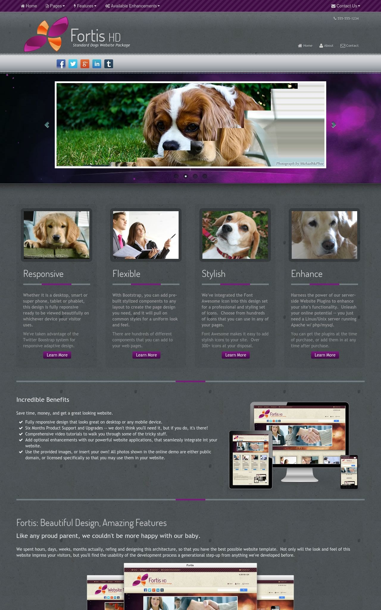 Desktop: Dogs Wordpress Theme
