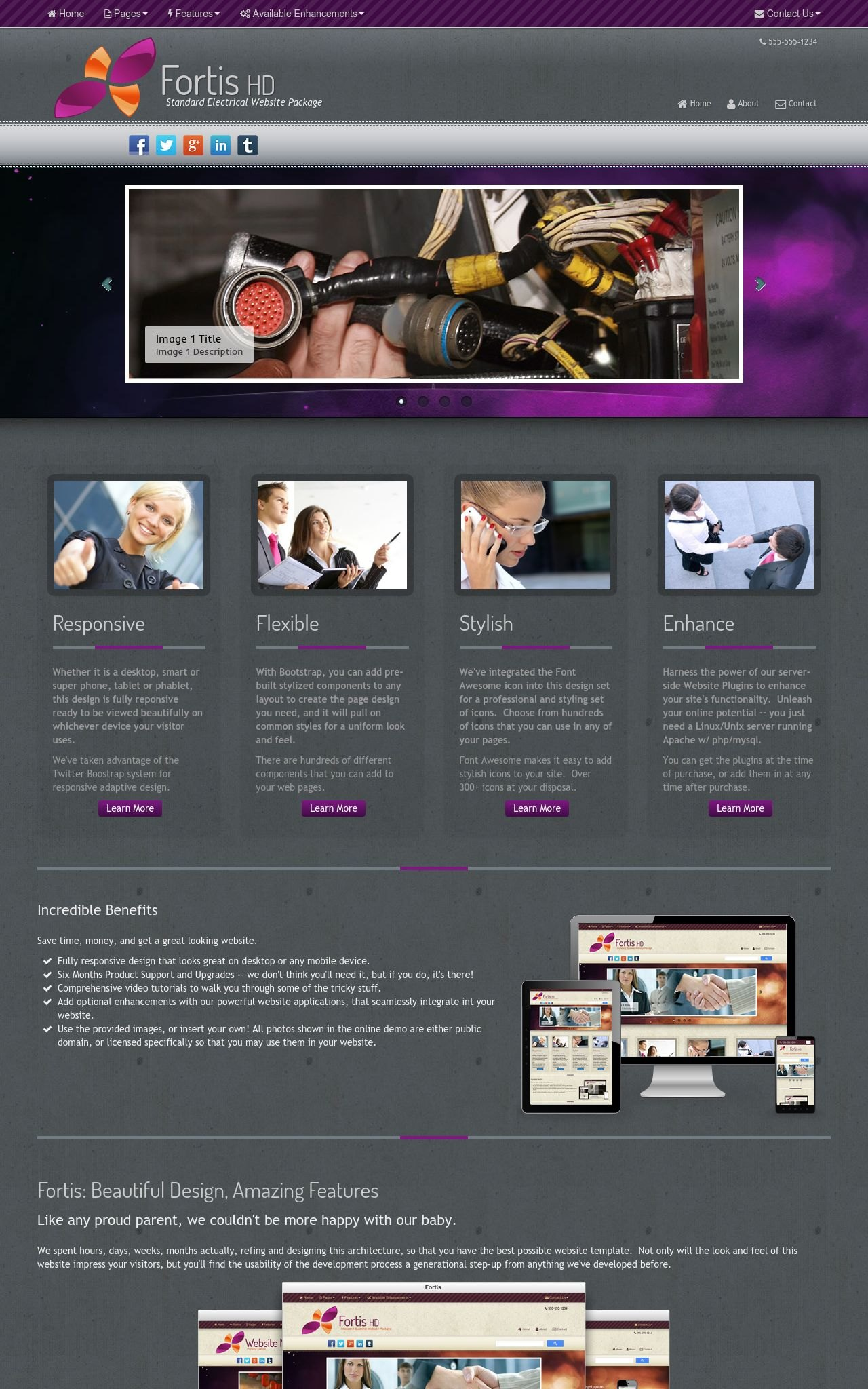 Desktop: Electrical Wordpress Theme