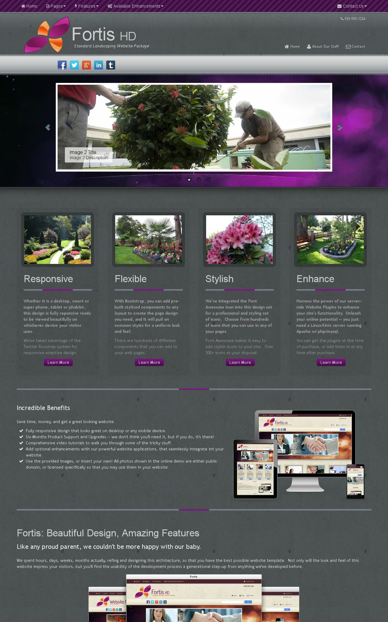 Desktop: Landscaping Web Template
