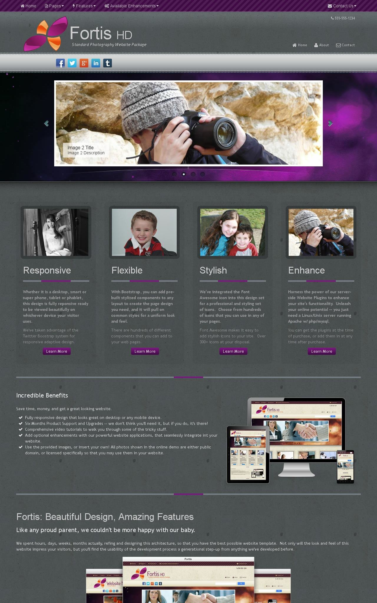 Desktop: Photography Web Template