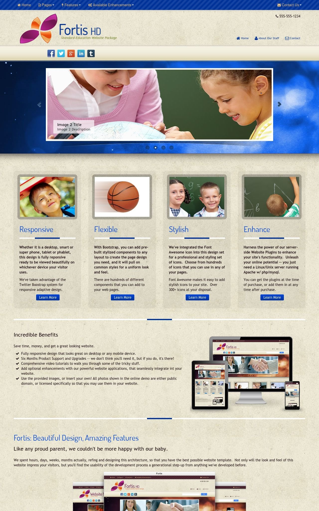 Desktop: Education Dreamweaver Template