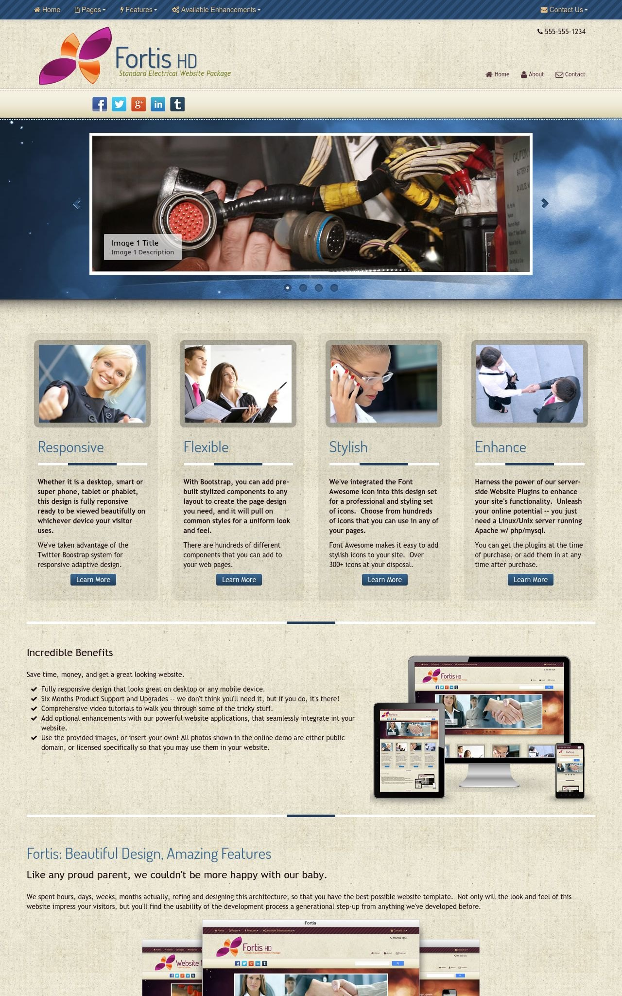 Electrical Web Templates