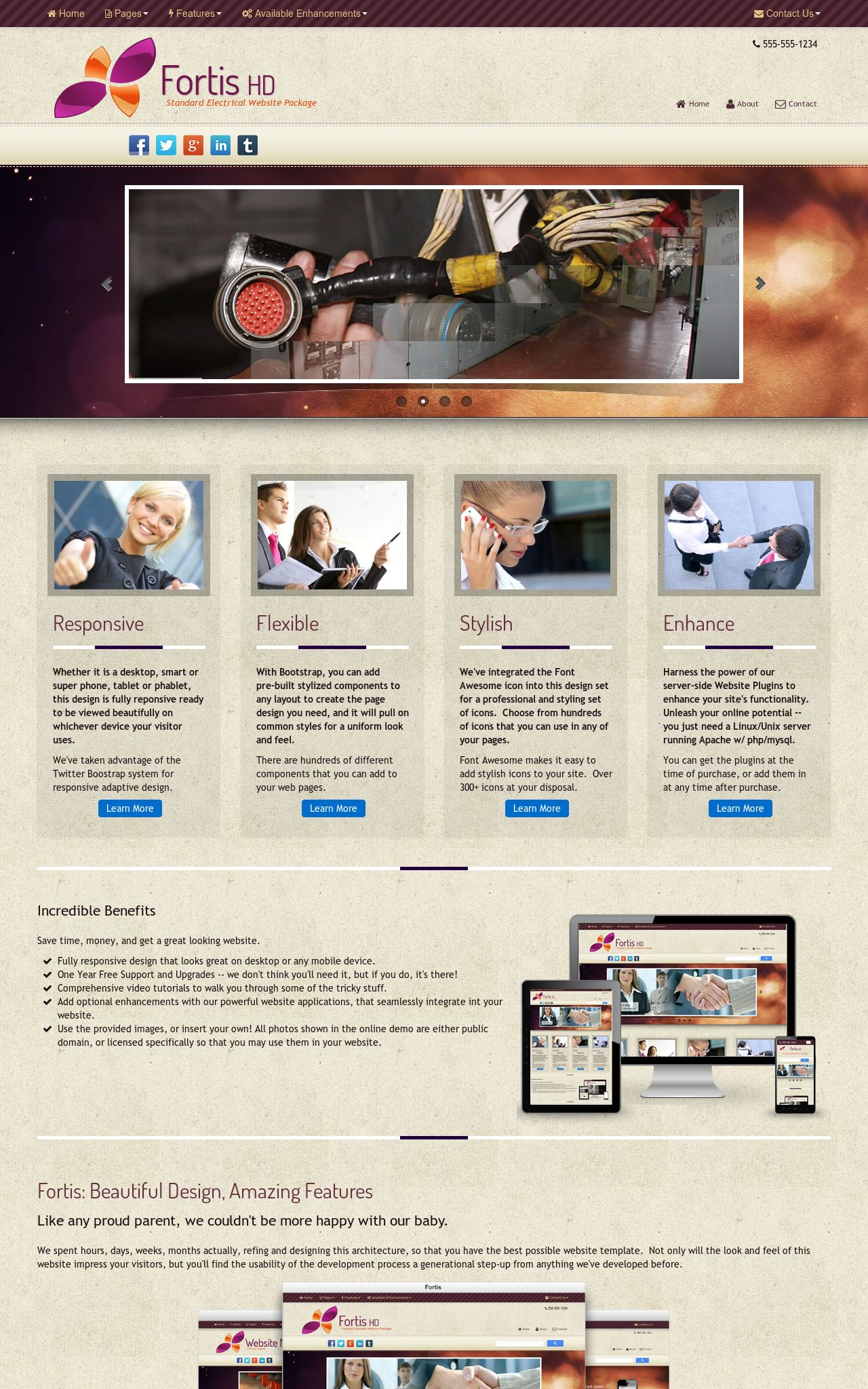 Tablet: Electrical Web Template