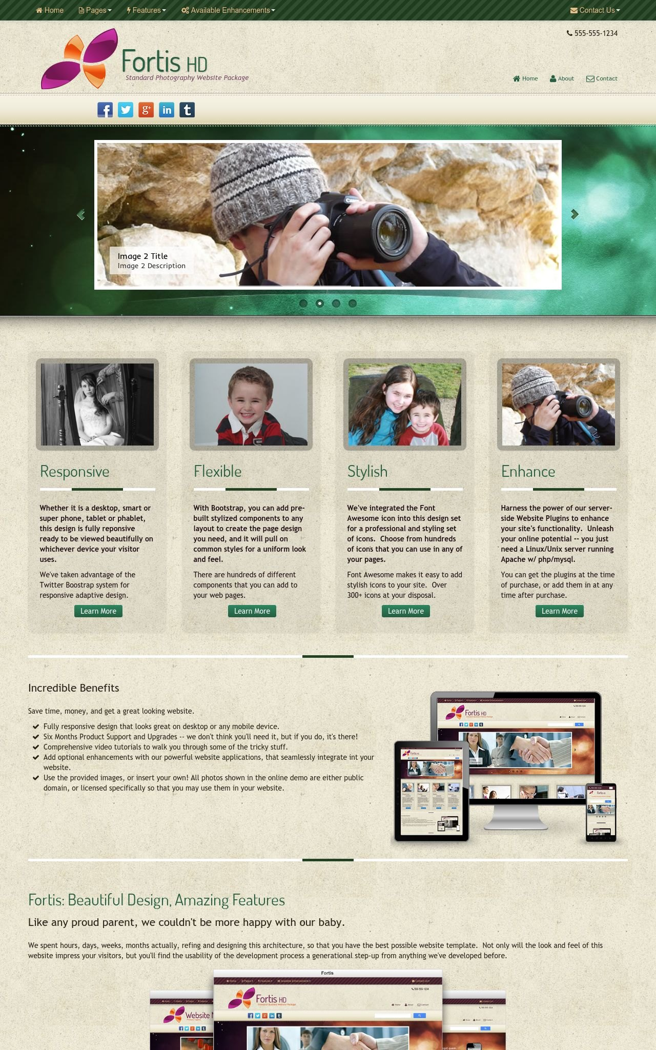 Photography Dreamweaver Templates