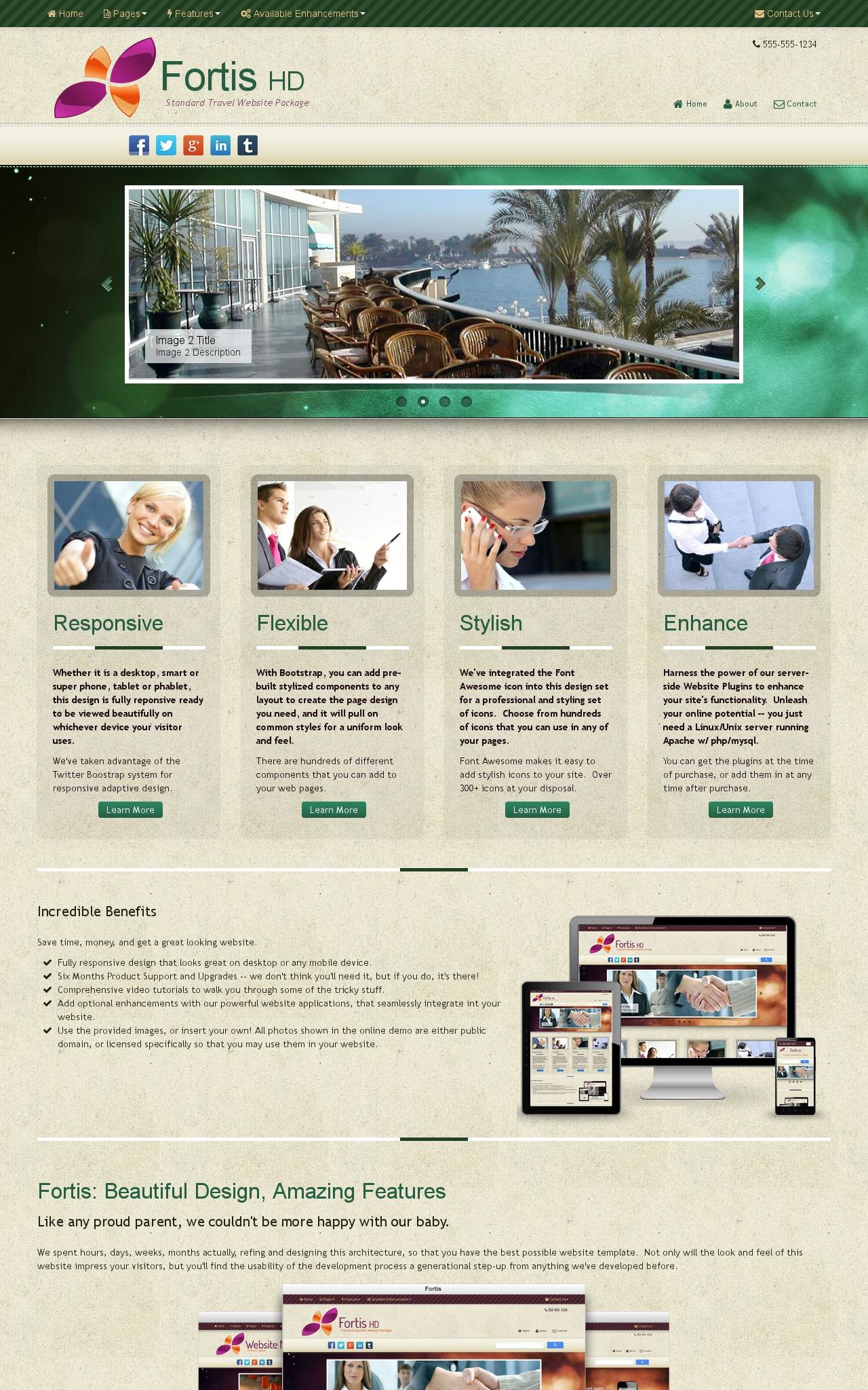 Tablet: Travel Web Template