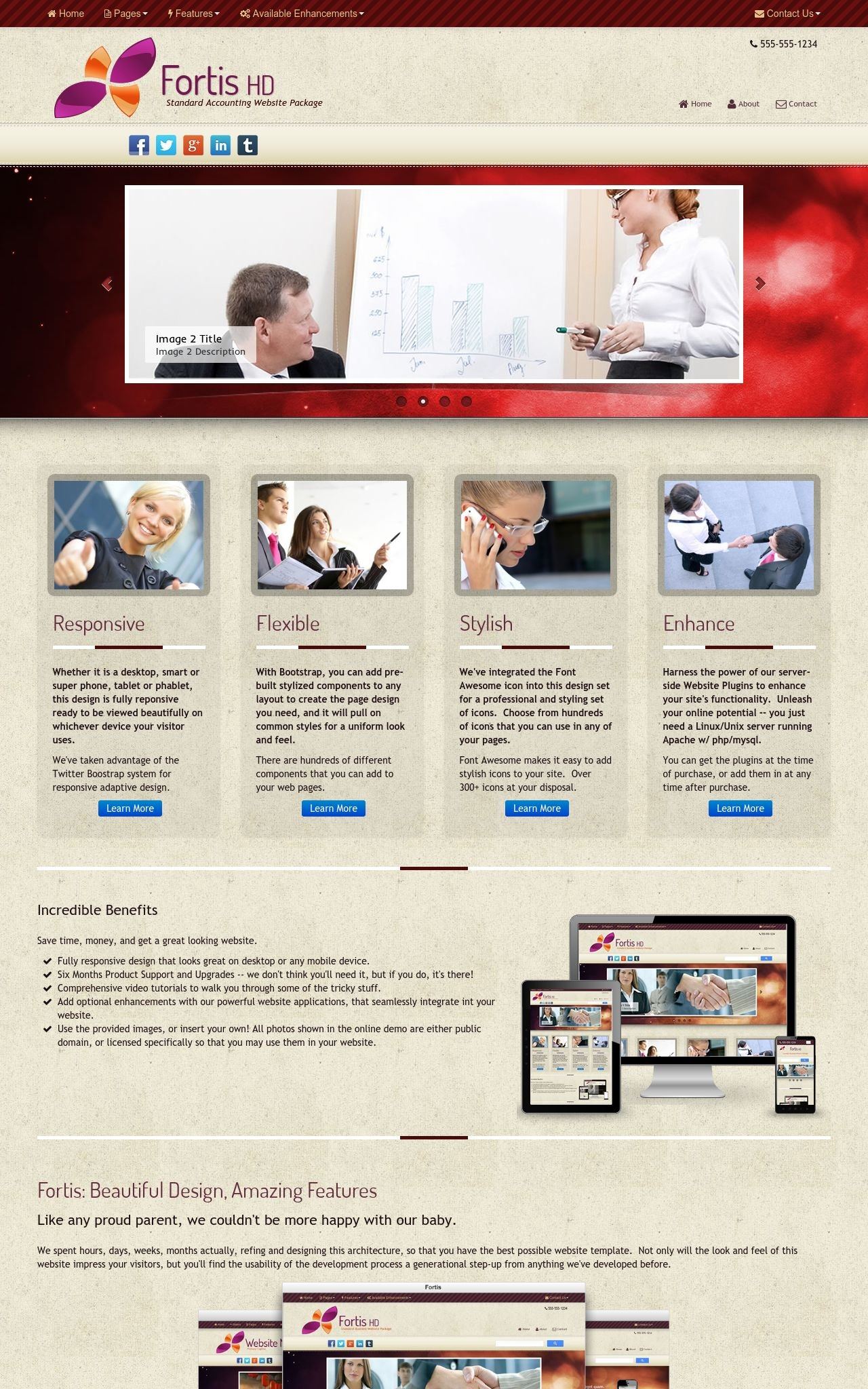 Tablet: Accounting Web Template
