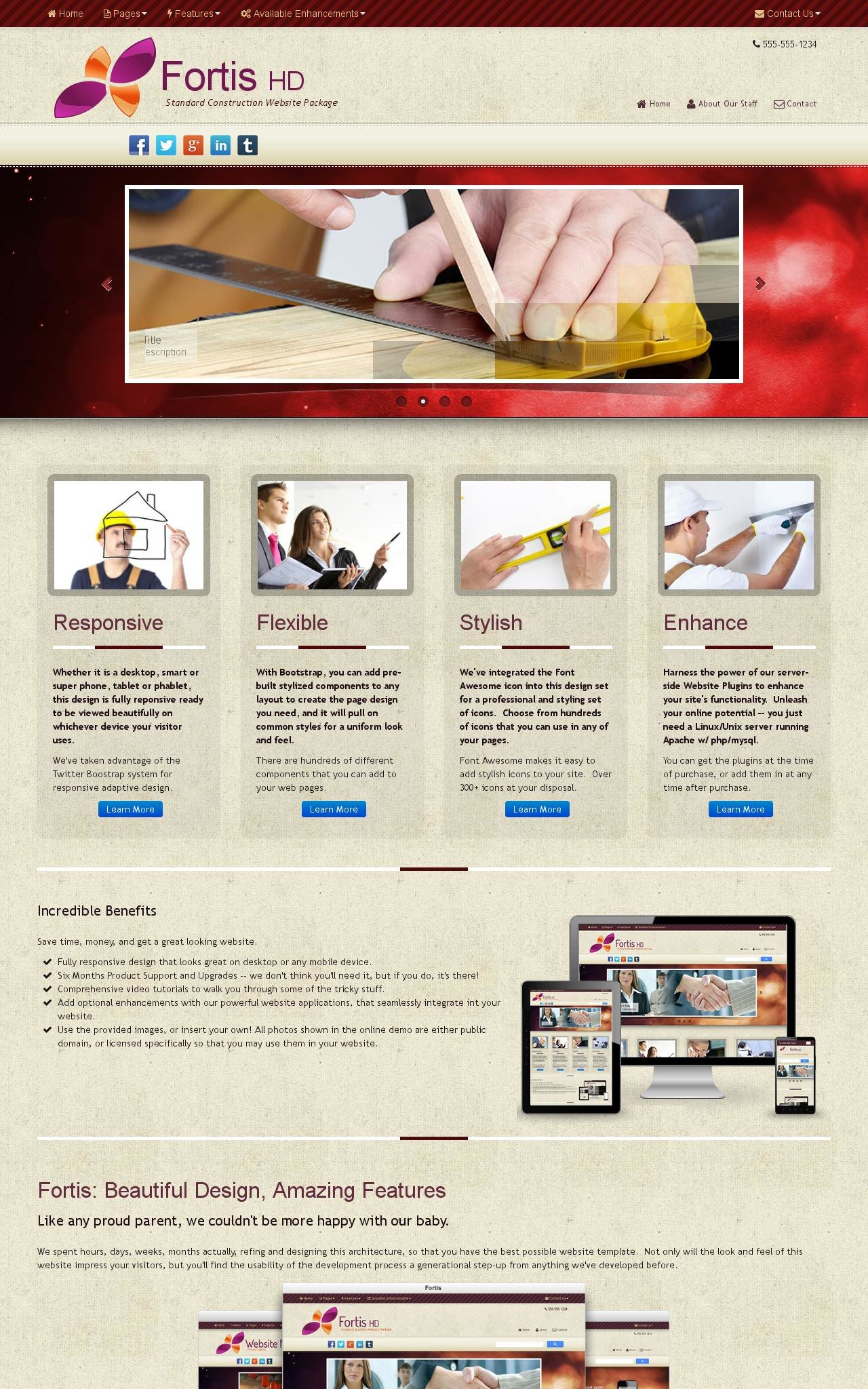 Desktop: Construction Web Template