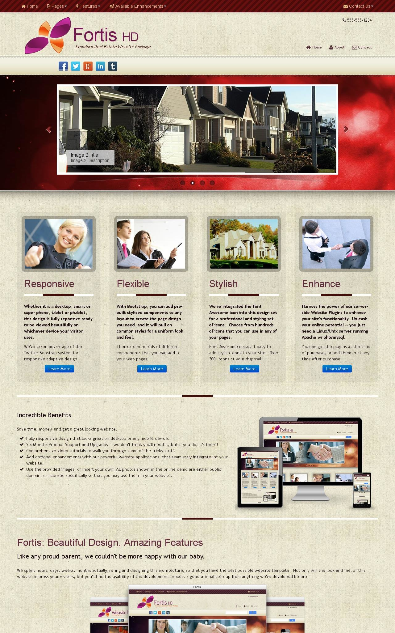 Desktop: Real-estate Wordpress Theme