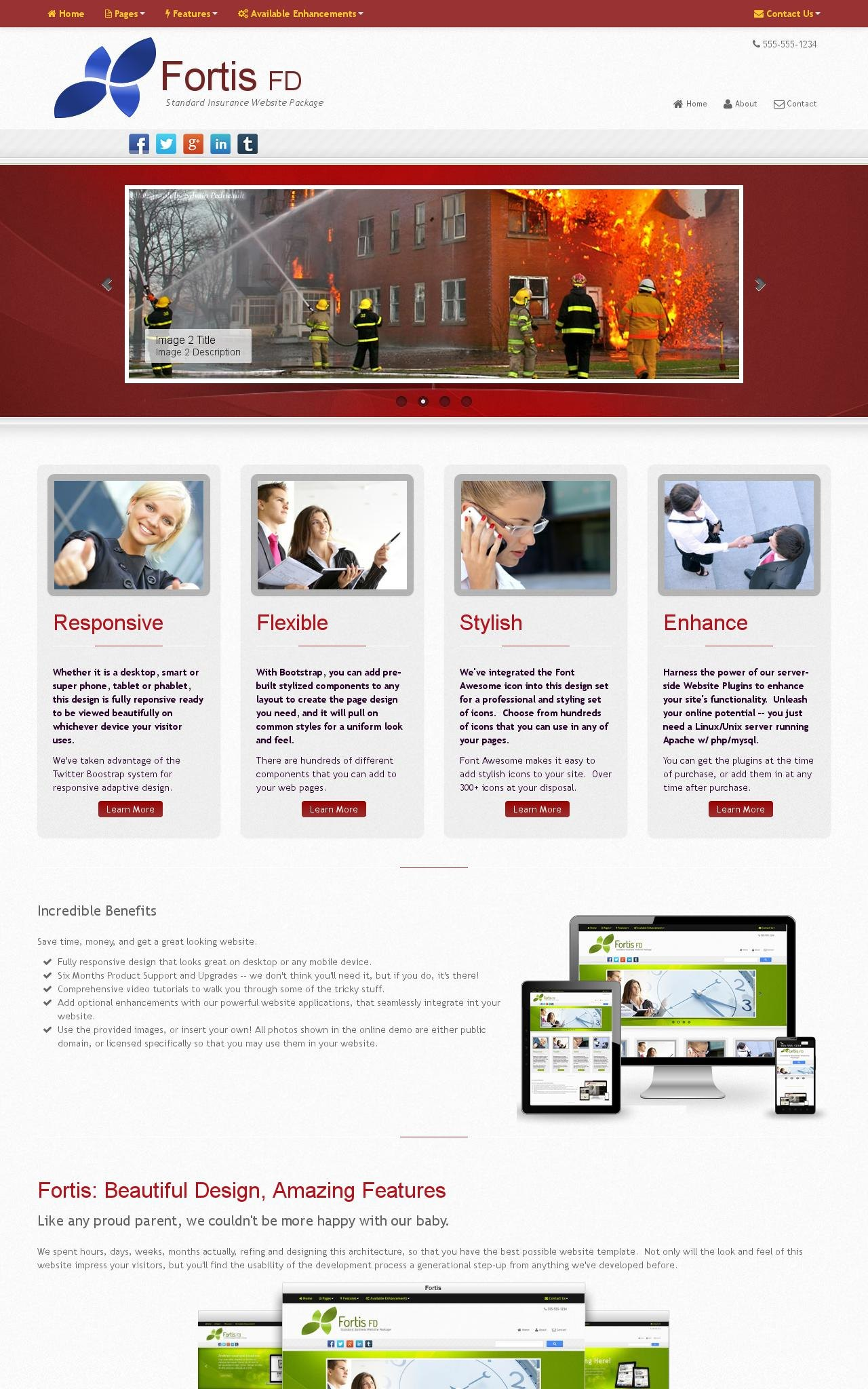 Desktop: Insurance Web Template