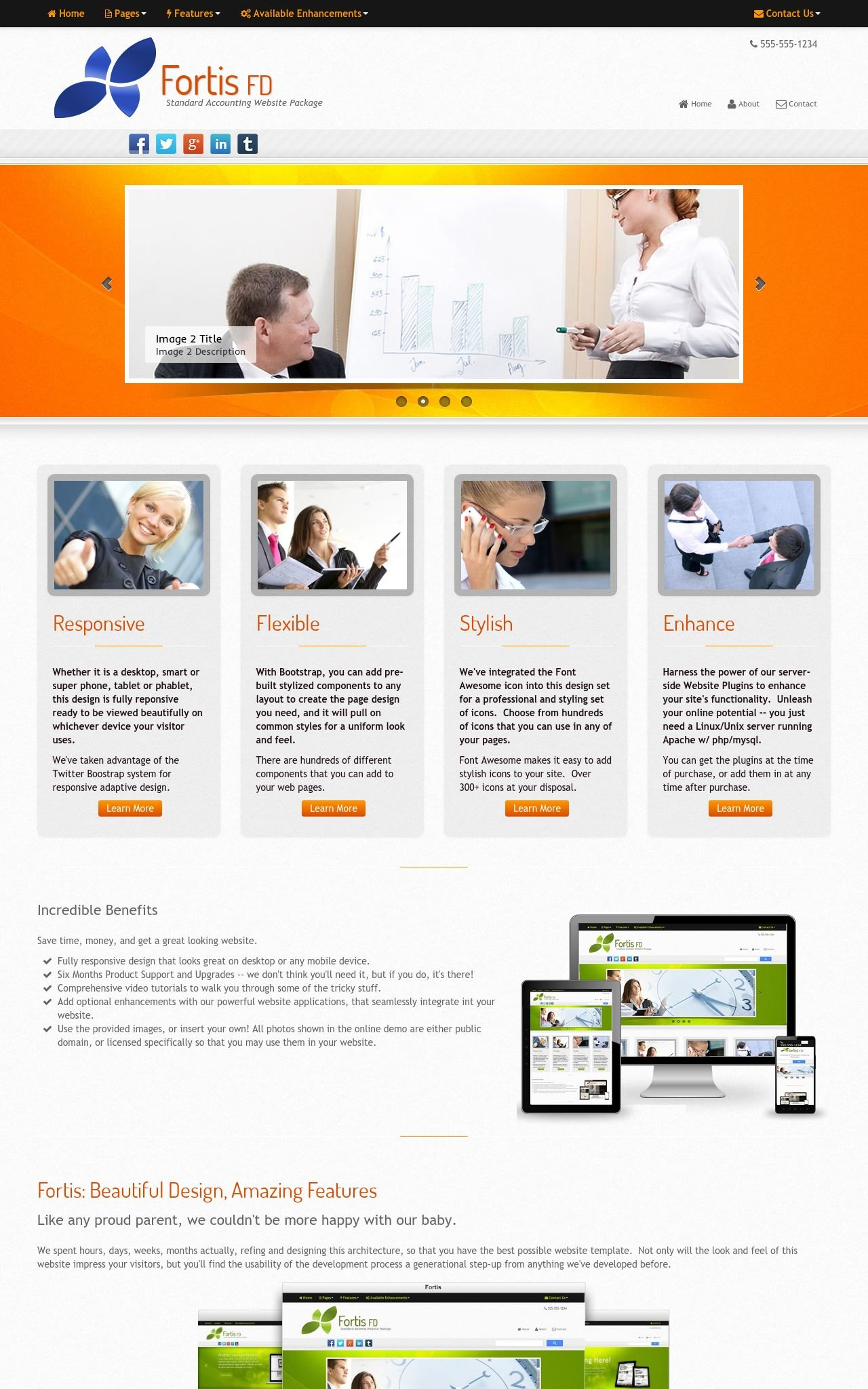 Tablet: Accounting Wordpress Theme