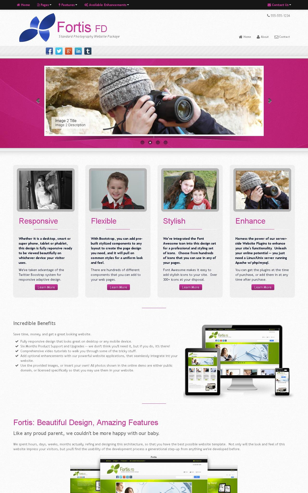 Desktop: Photography Wordpress Theme