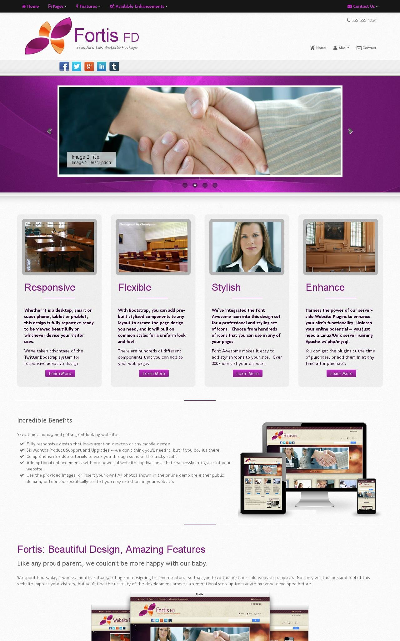 Tablet: Law Web Template