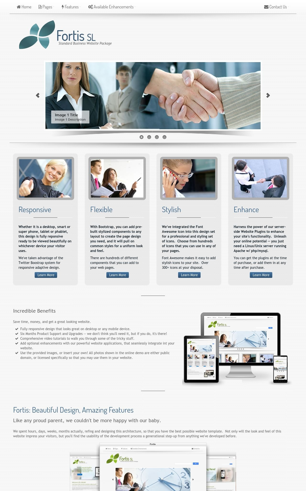 Tablet: Business Wordpress Theme