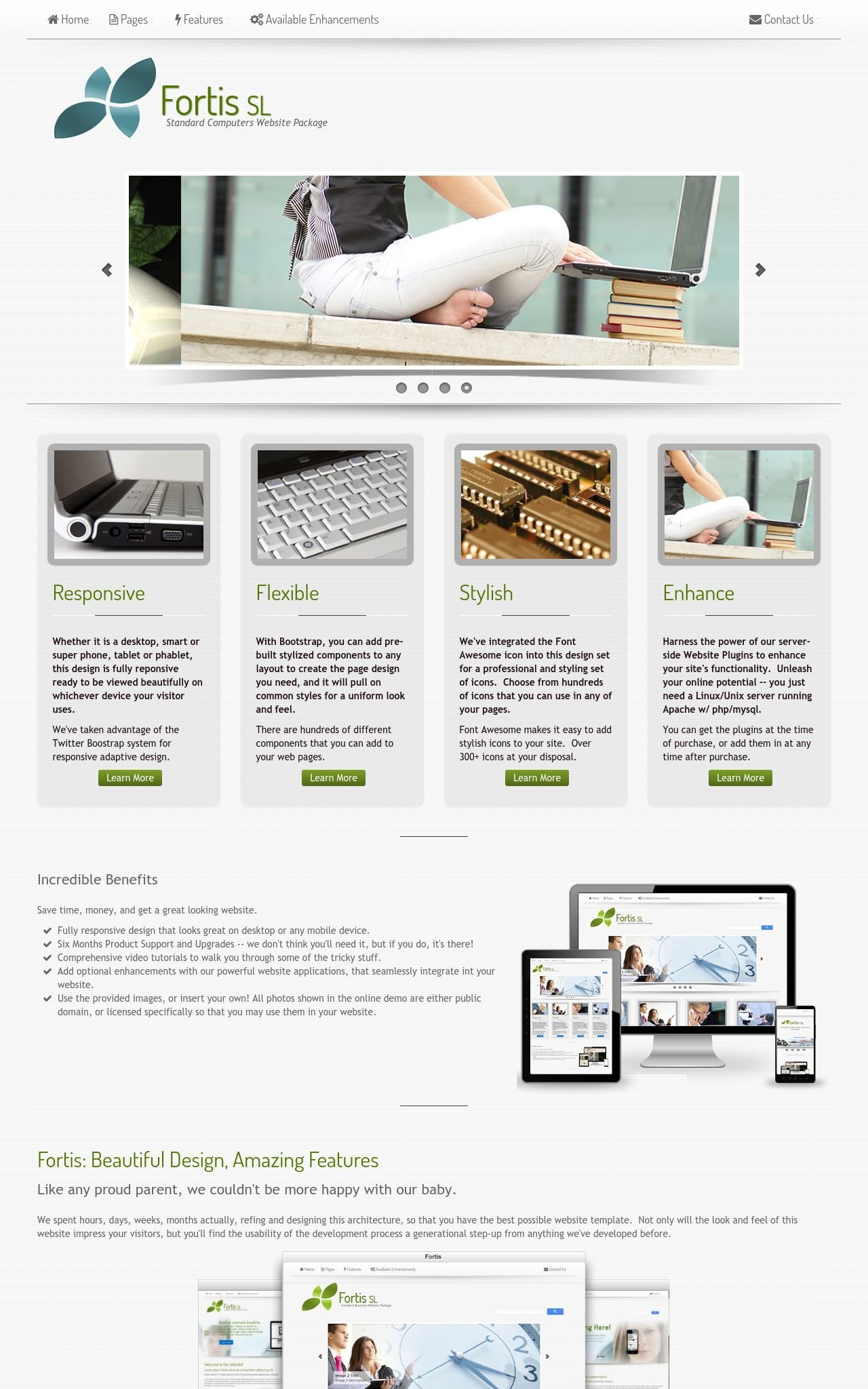Computers Web Templates