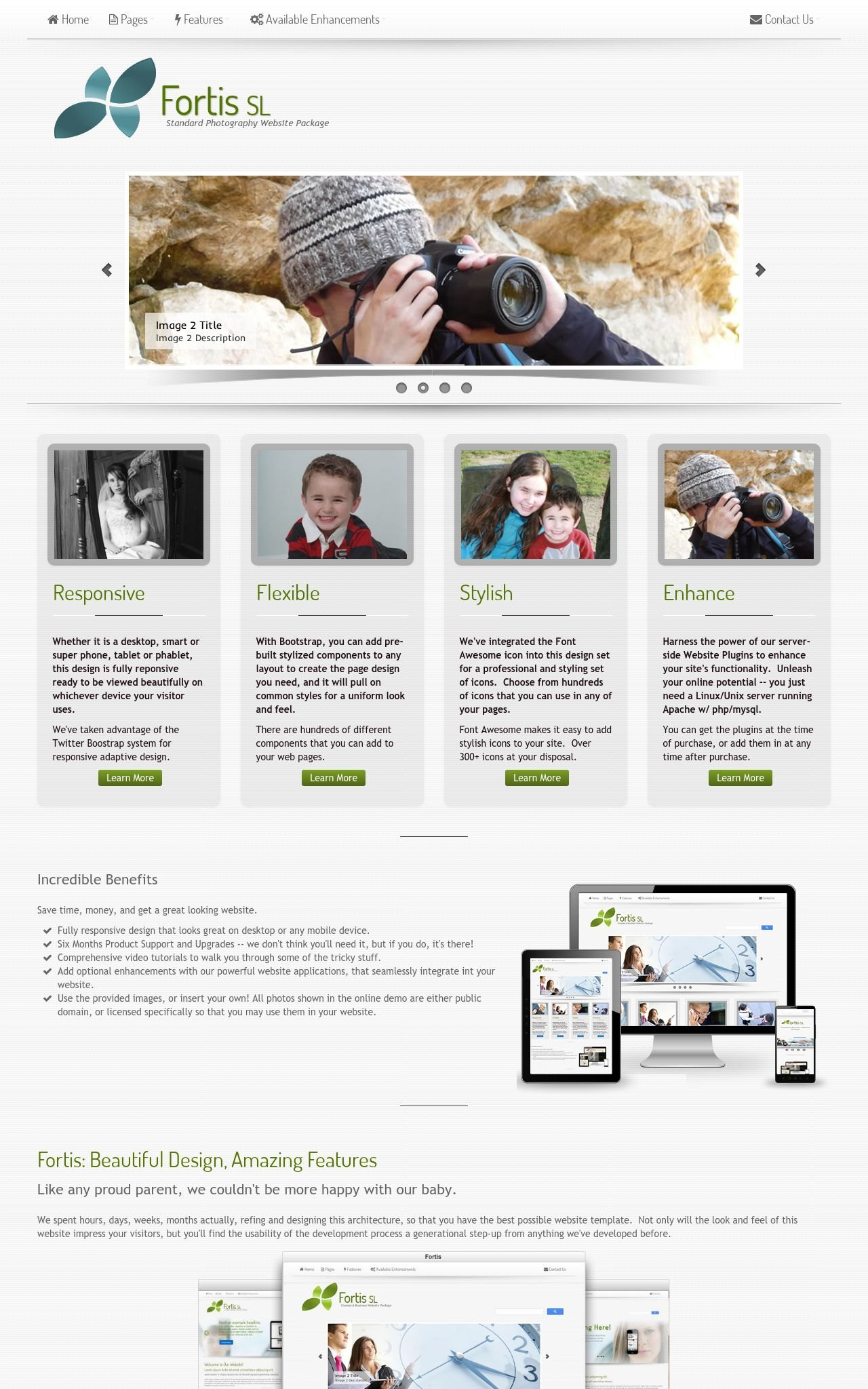 Tablet: Photography Wordpress Theme