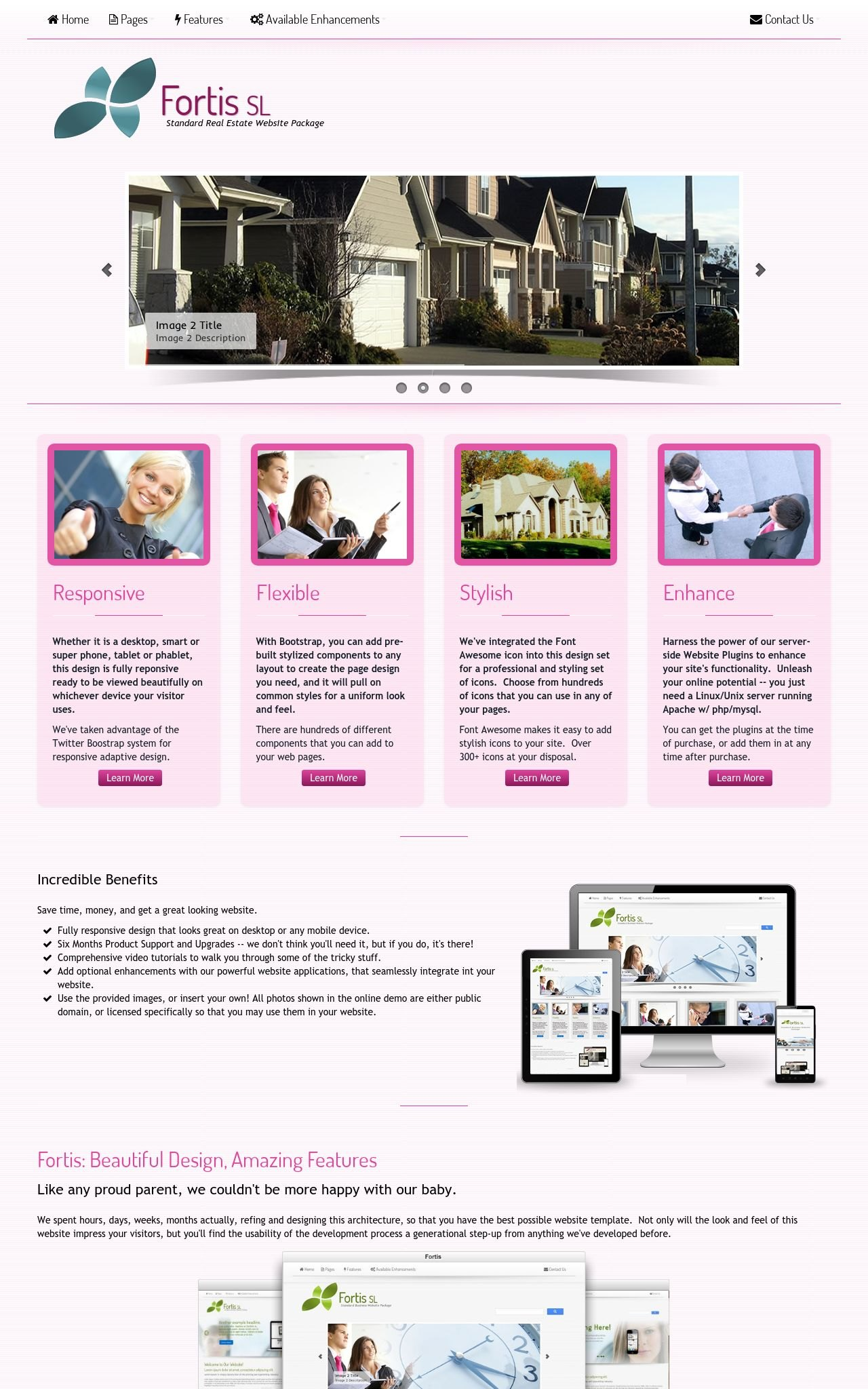 Tablet: Real-estate Web Template