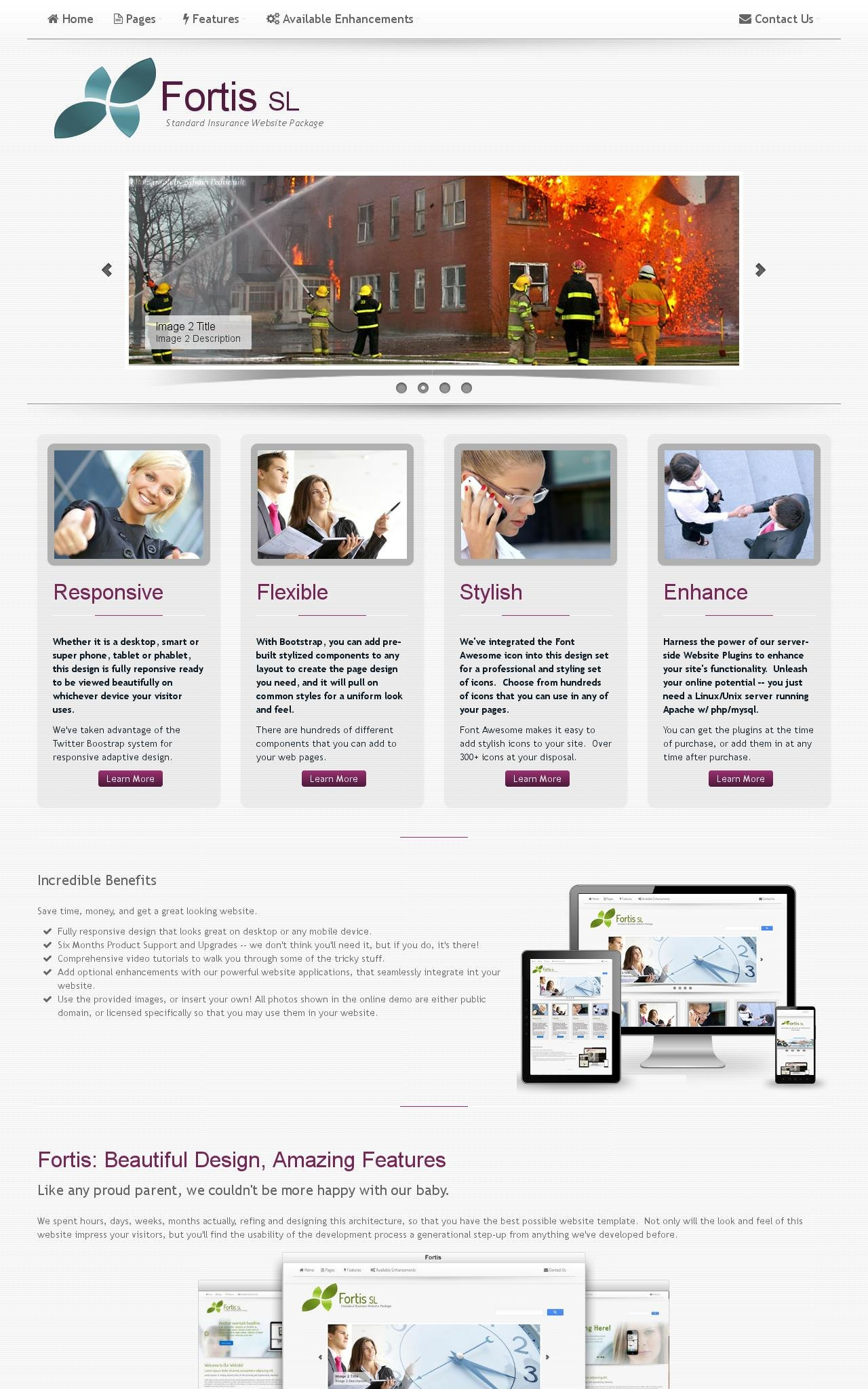 Tablet: Insurance Web Template