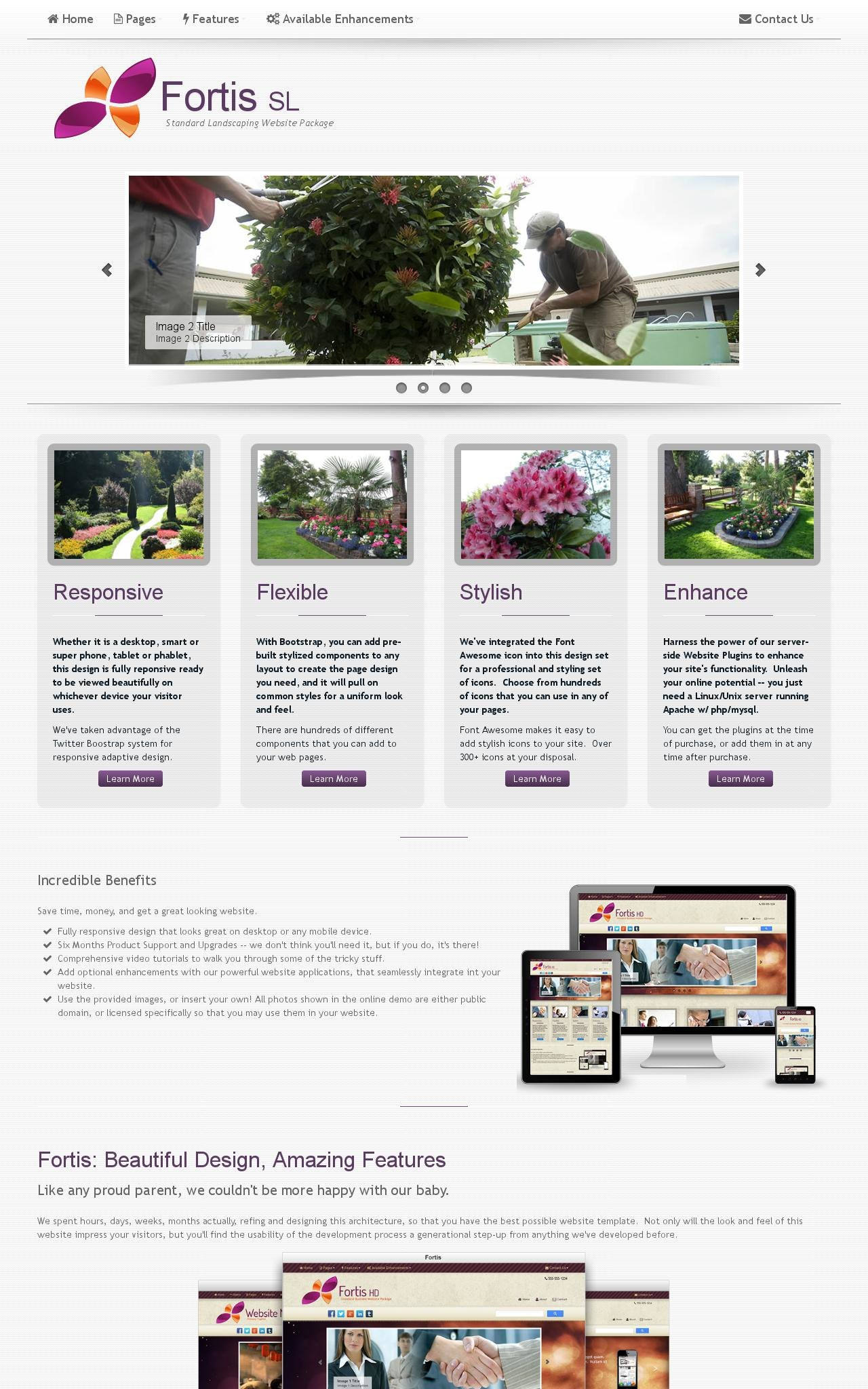 Landscaping Web Templates