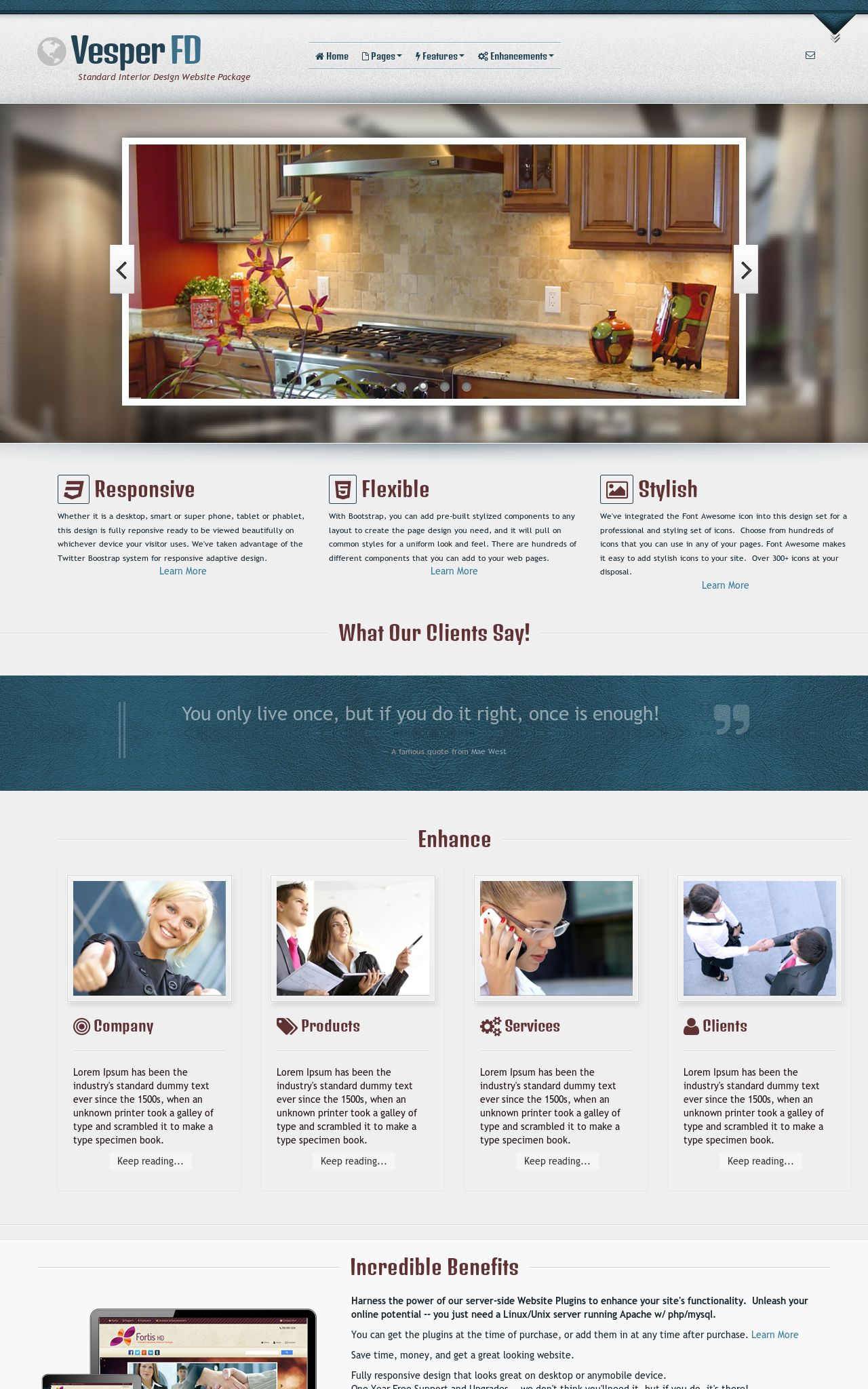 Desktop: Interior-design Wordpress Theme