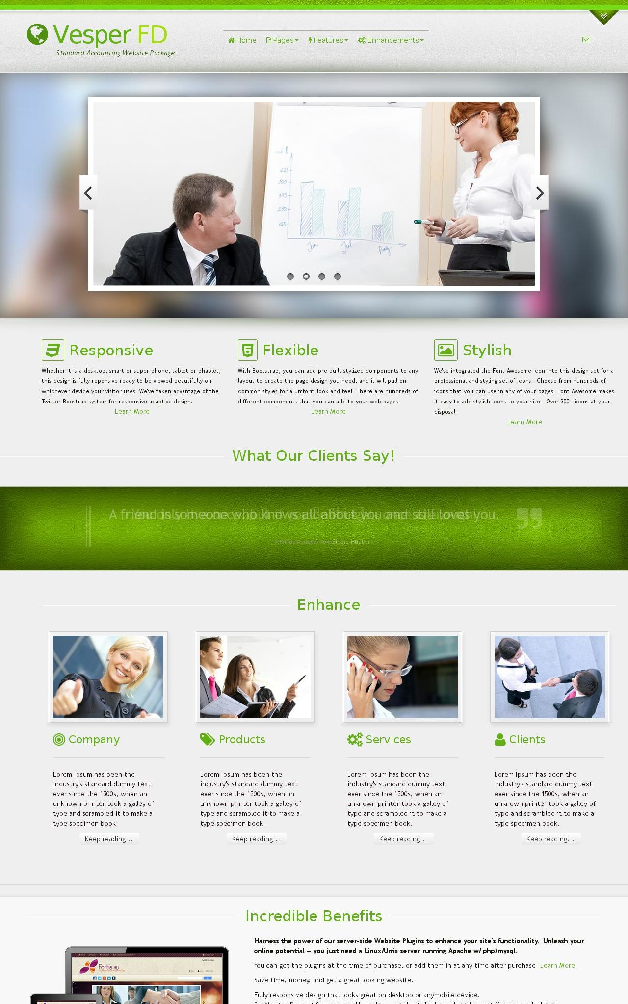Accounting Web Templates