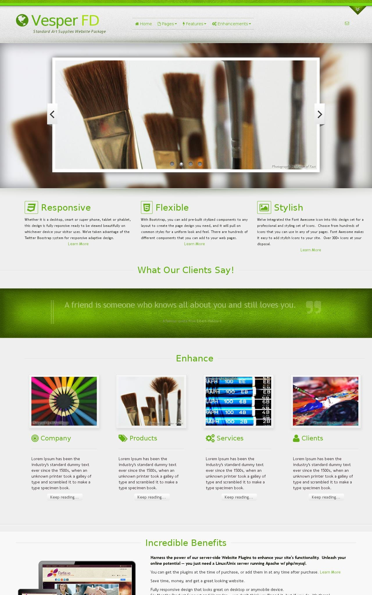 Art-supplies Web Templates