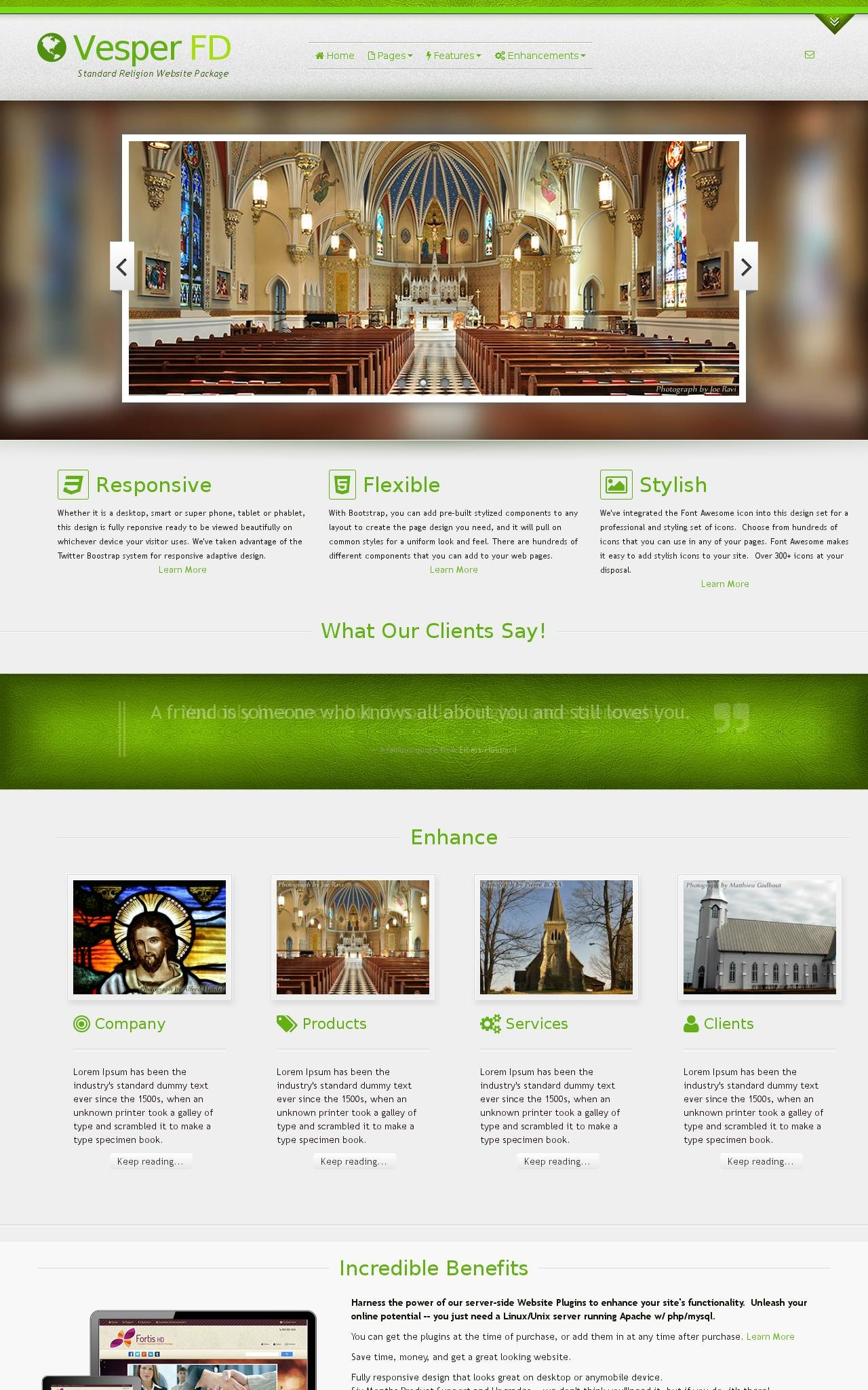 Tablet: Religion Wordpress Theme