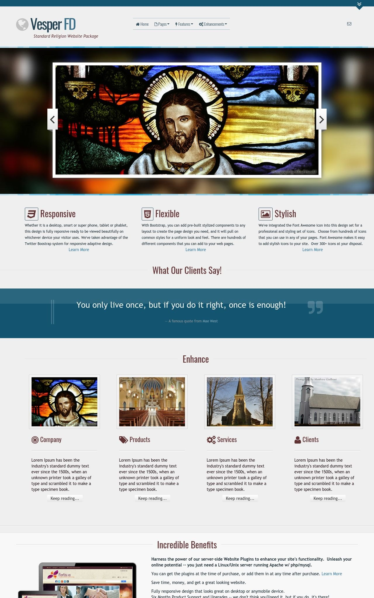 Desktop: Religion Web Template