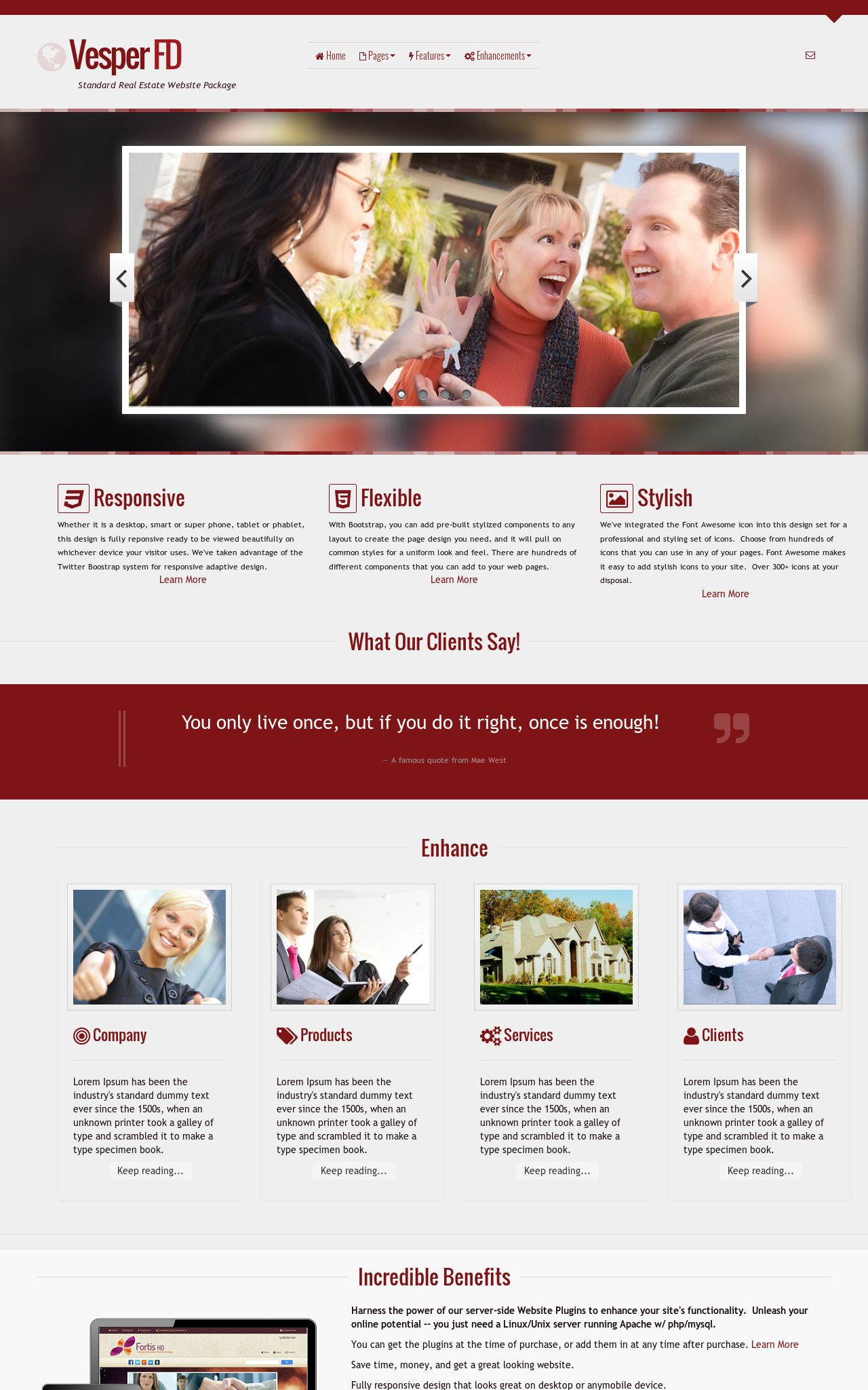 Tablet: Real-estate Wordpress Theme