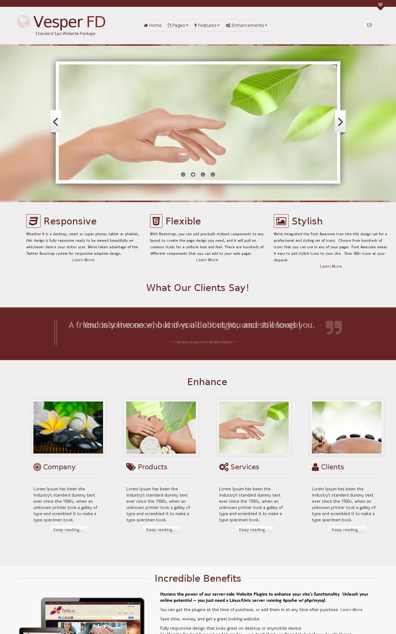 Spa Wordpress Themes