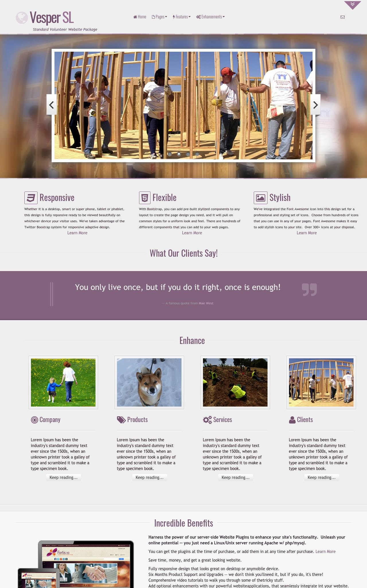 Volunteer Web Templates