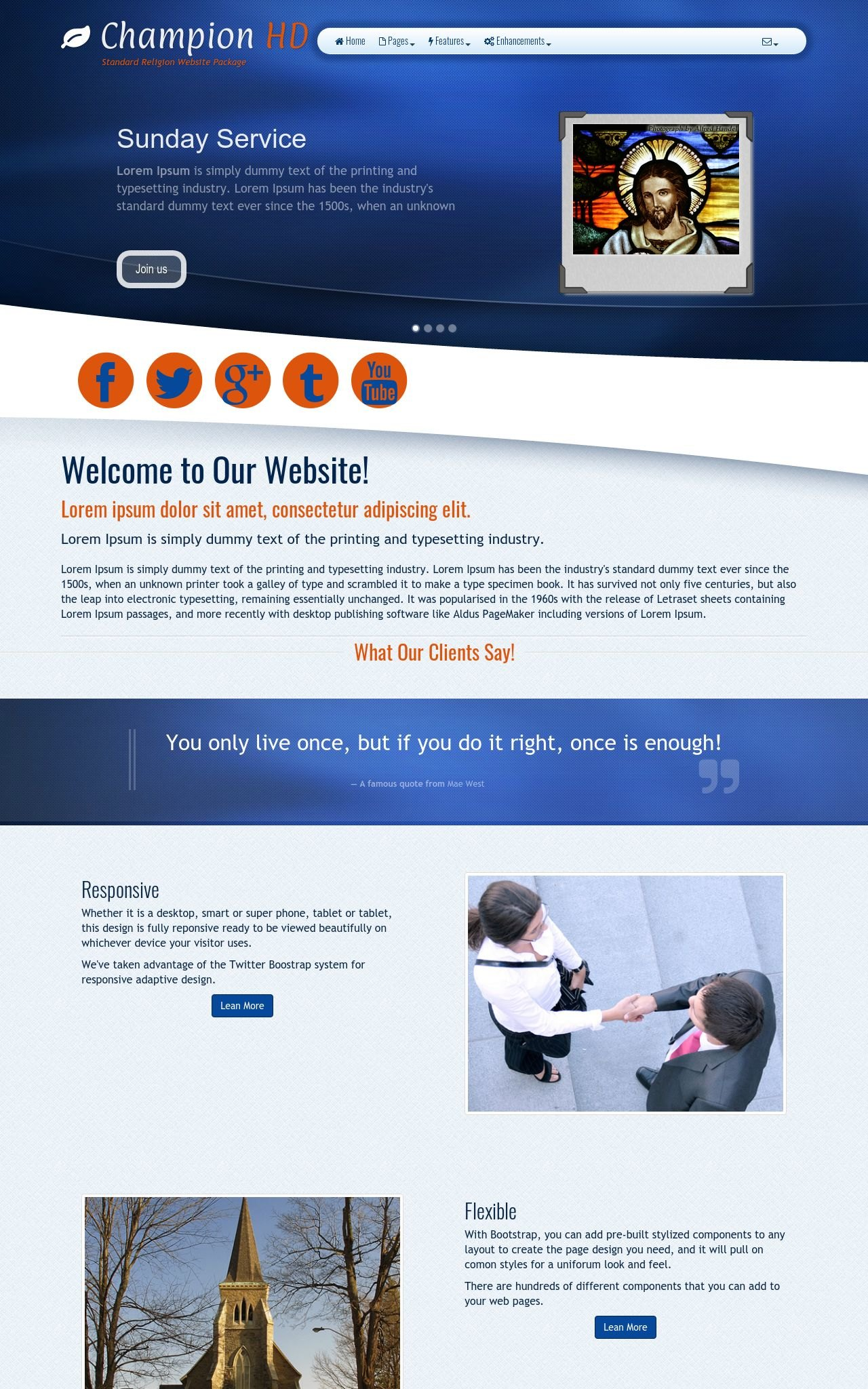 Religion Web Templates