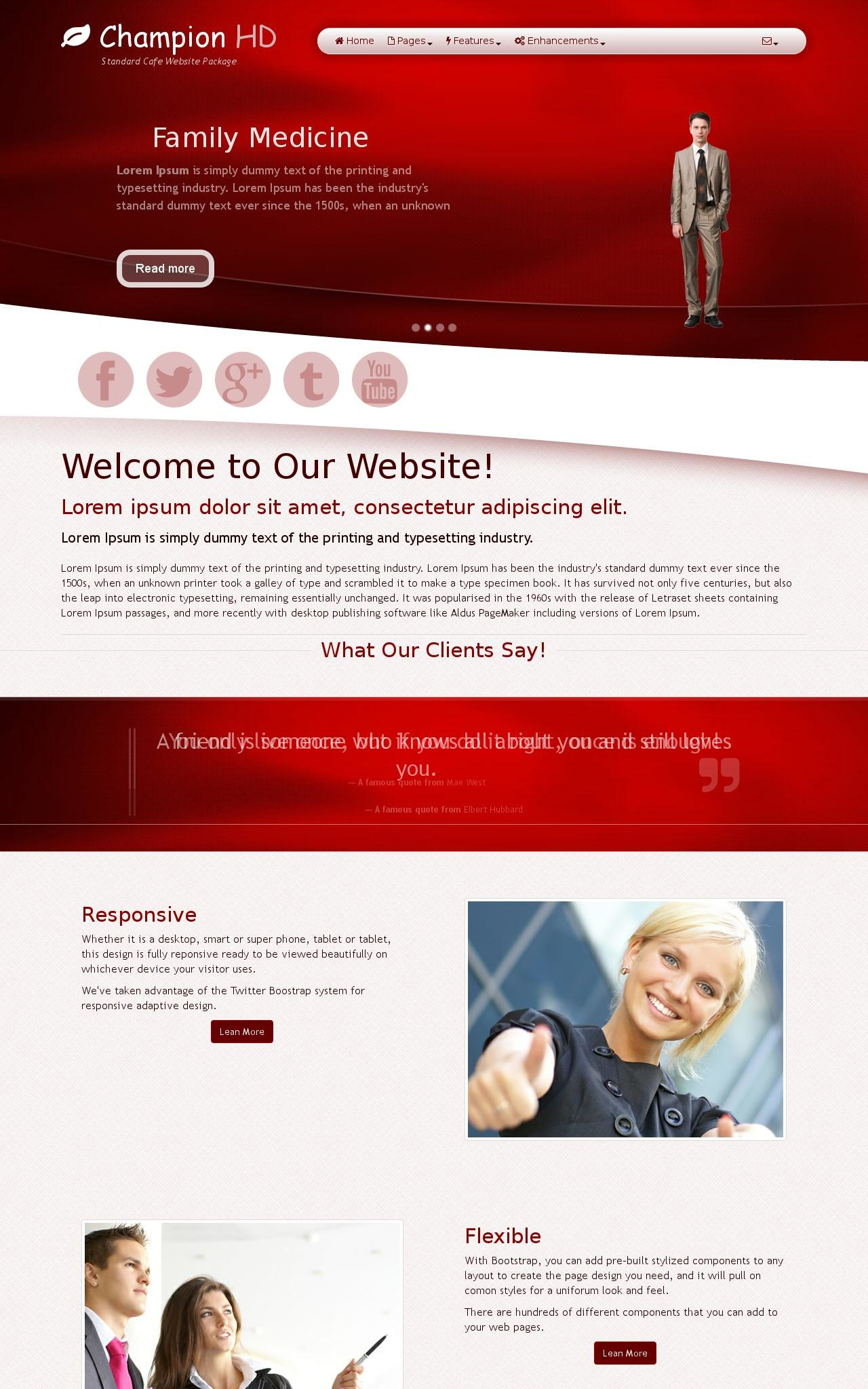 Cafe Web Templates