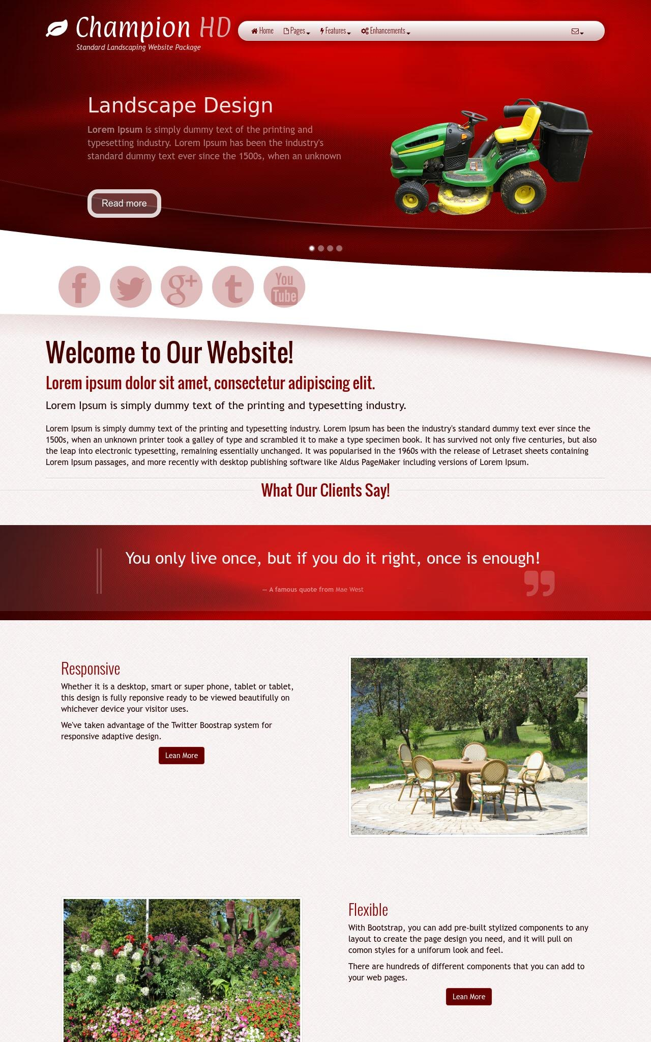 Landscaping Wordpress Themes
