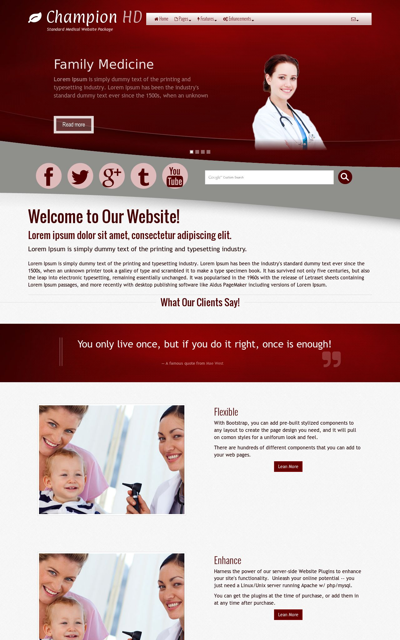 Tablet: Medical Web Template