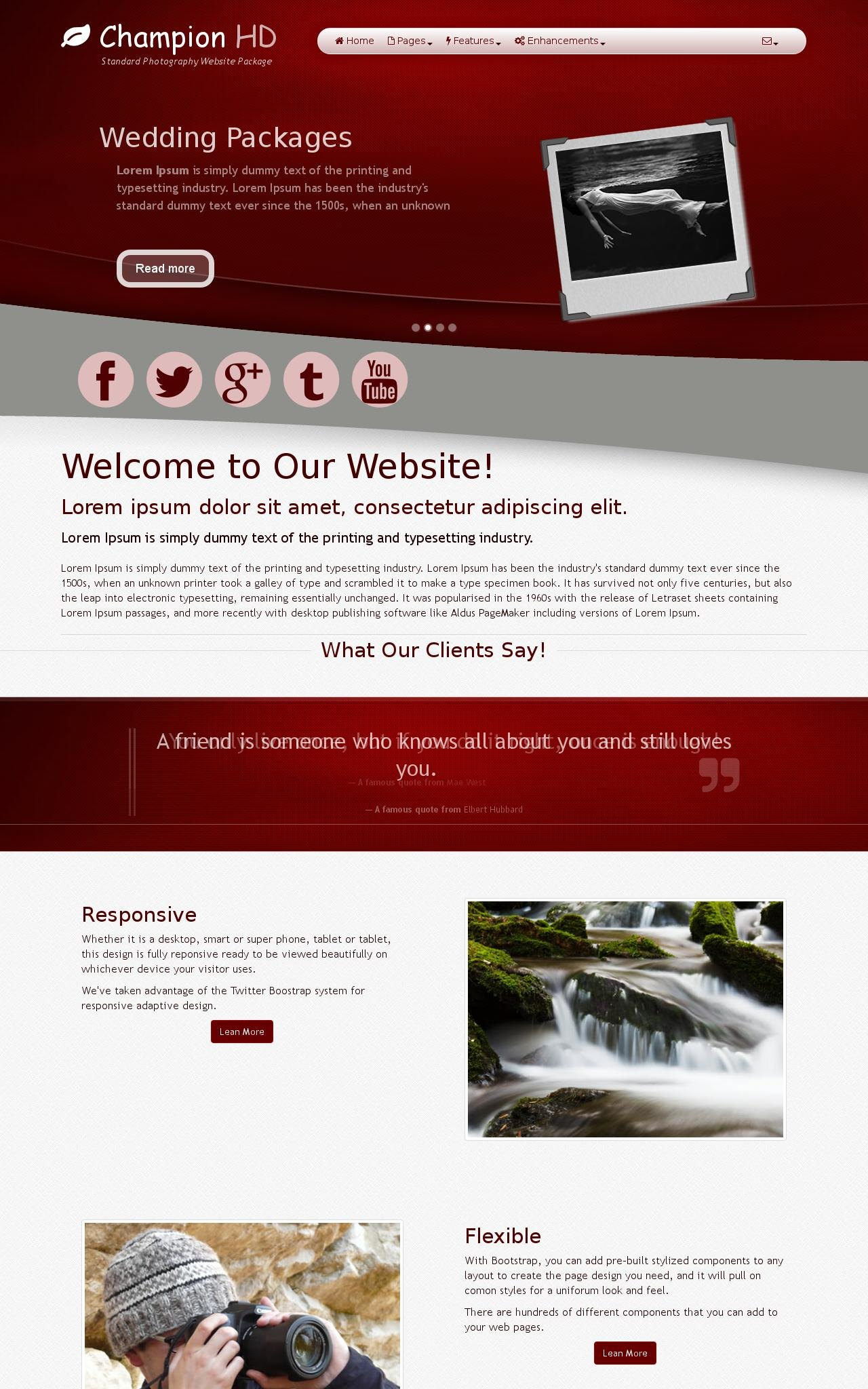 Tablet: Photography Web Template