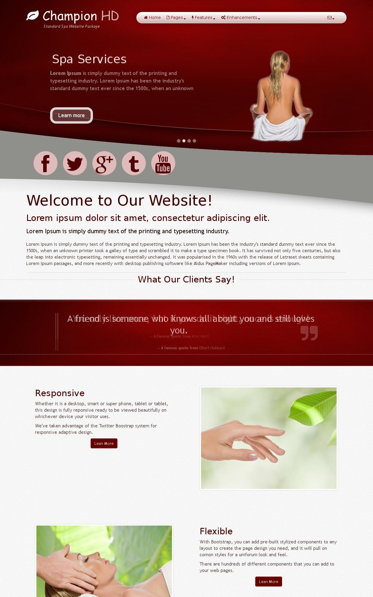 Spa Web Templates