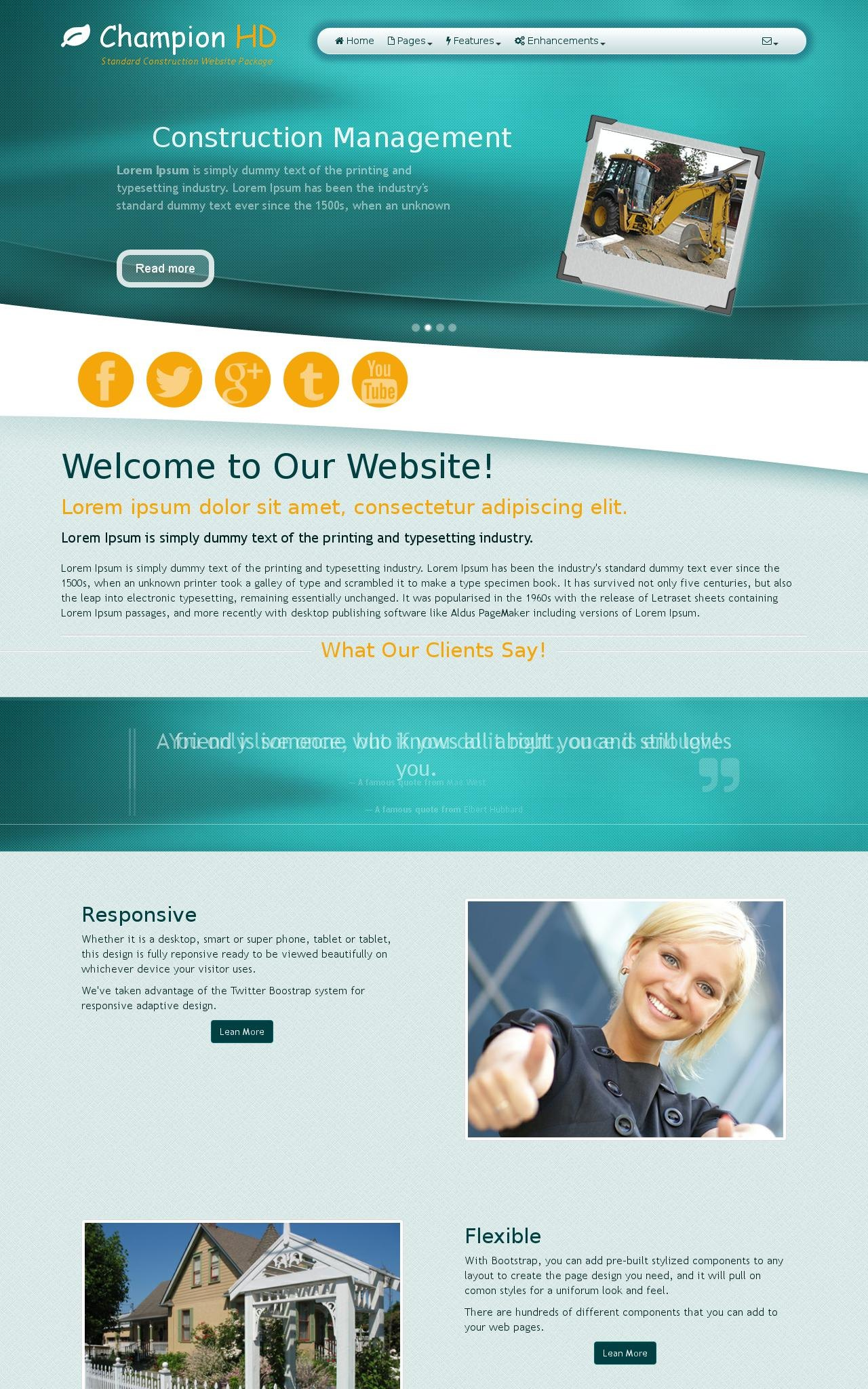 Construction Web Templates