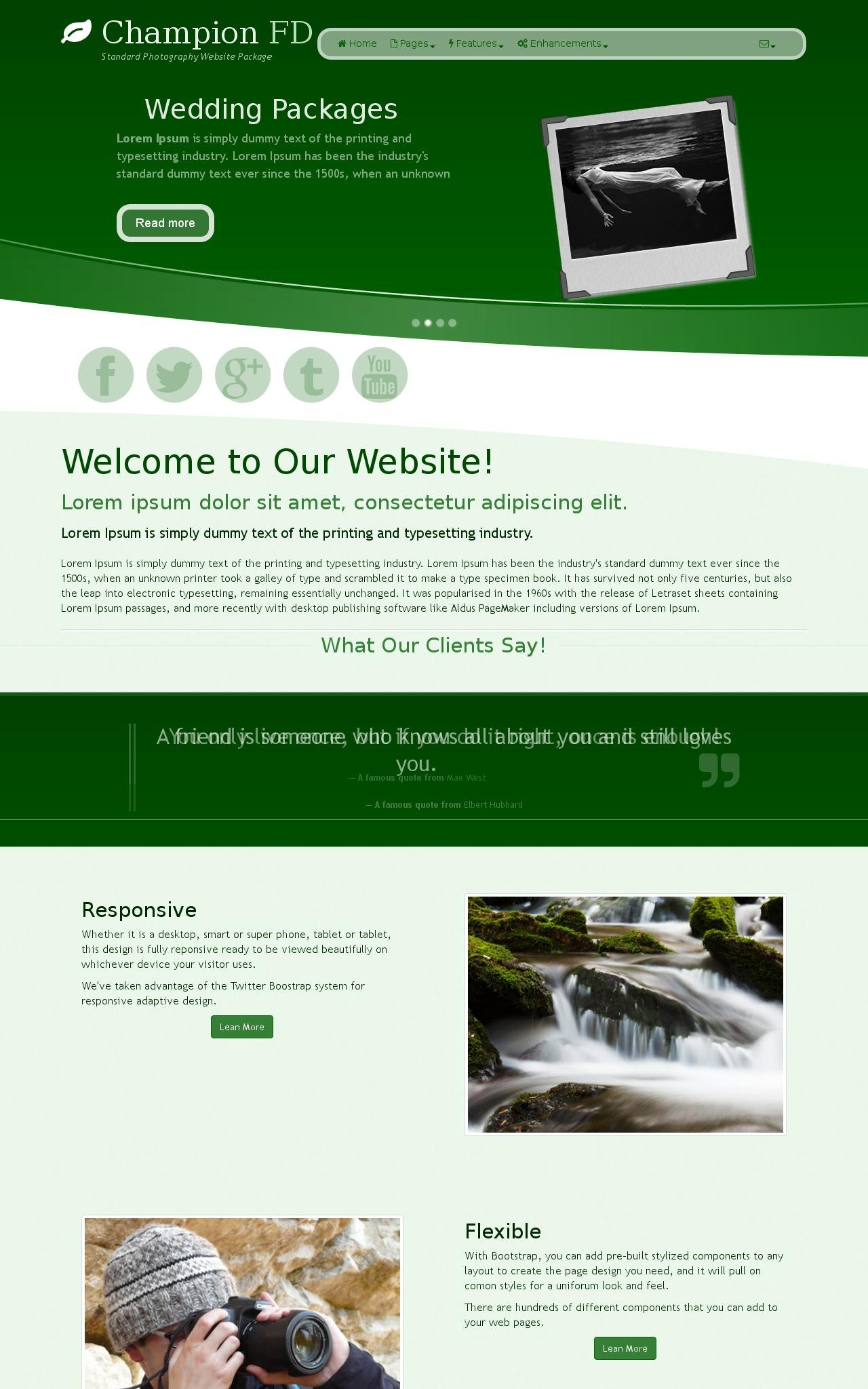 Photography Web Templates
