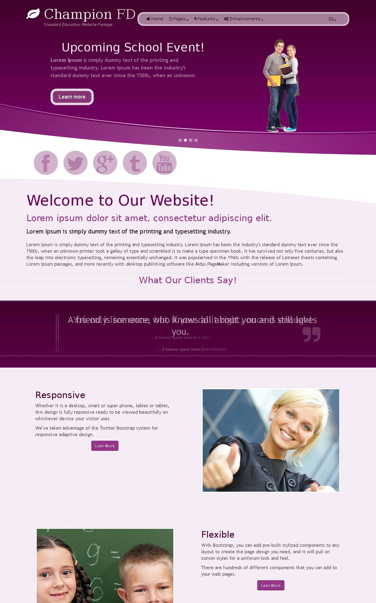 Tablet: Education Web Template
