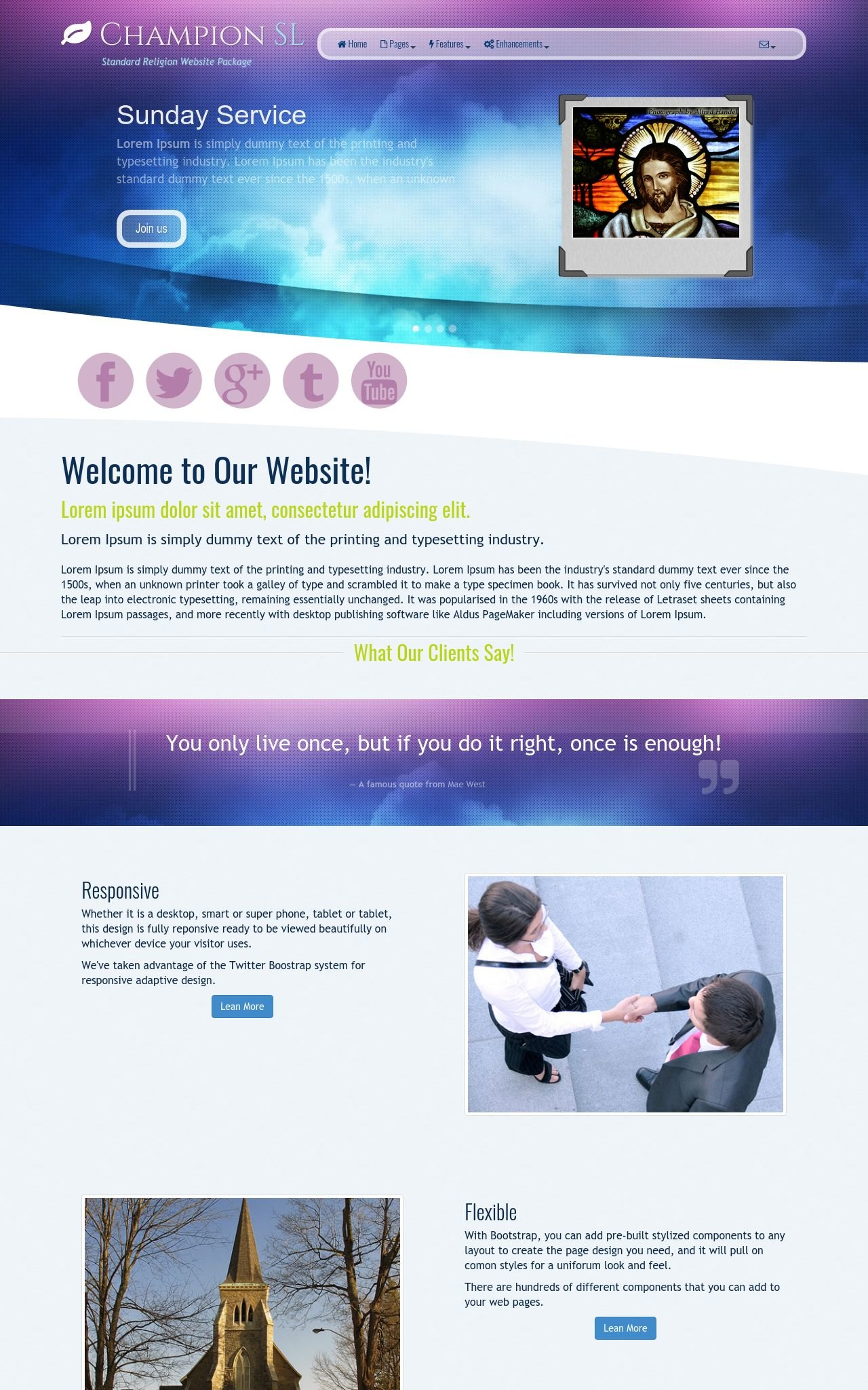 Desktop: Religion Wordpress Theme