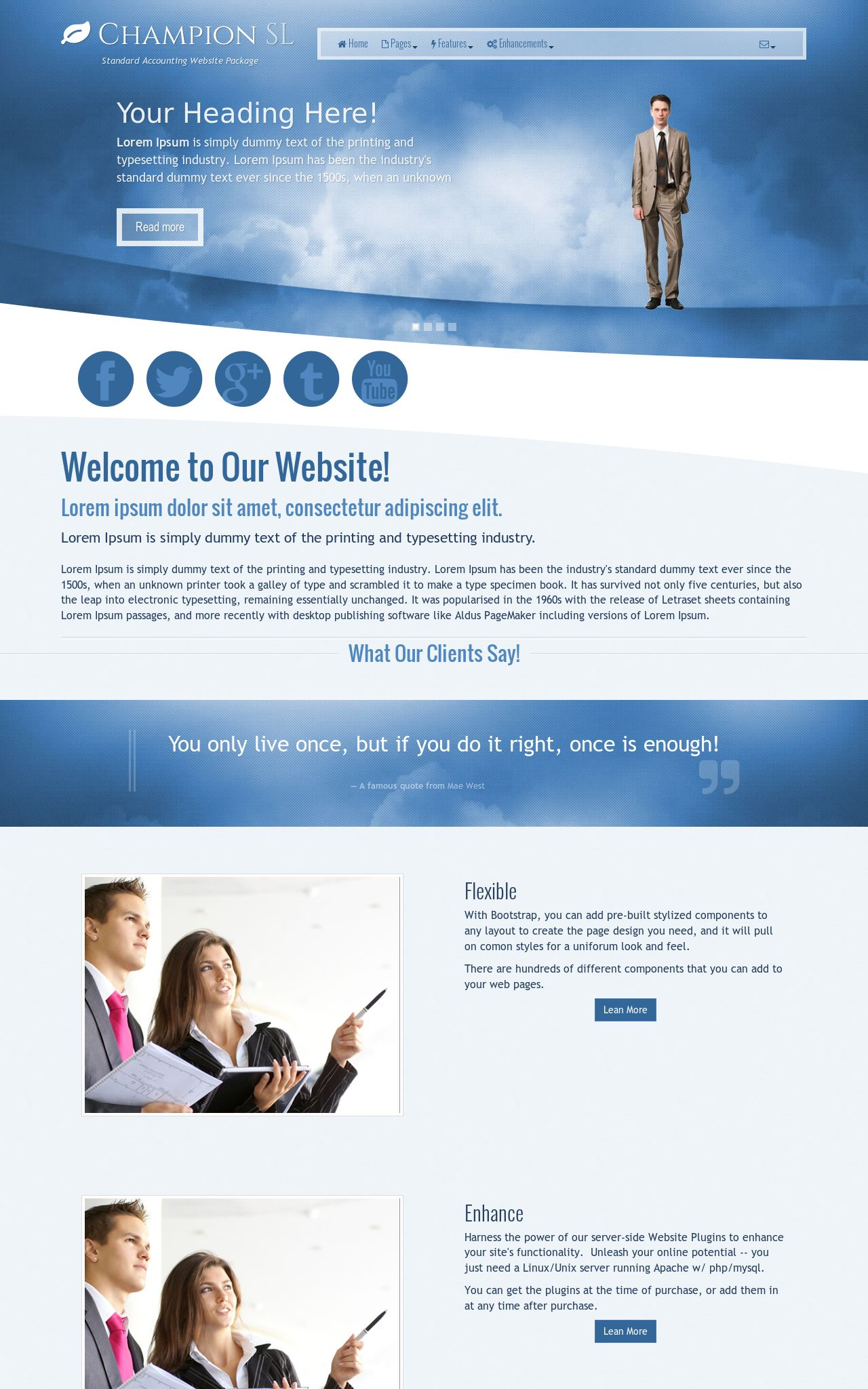 Desktop: Accounting Web Template
