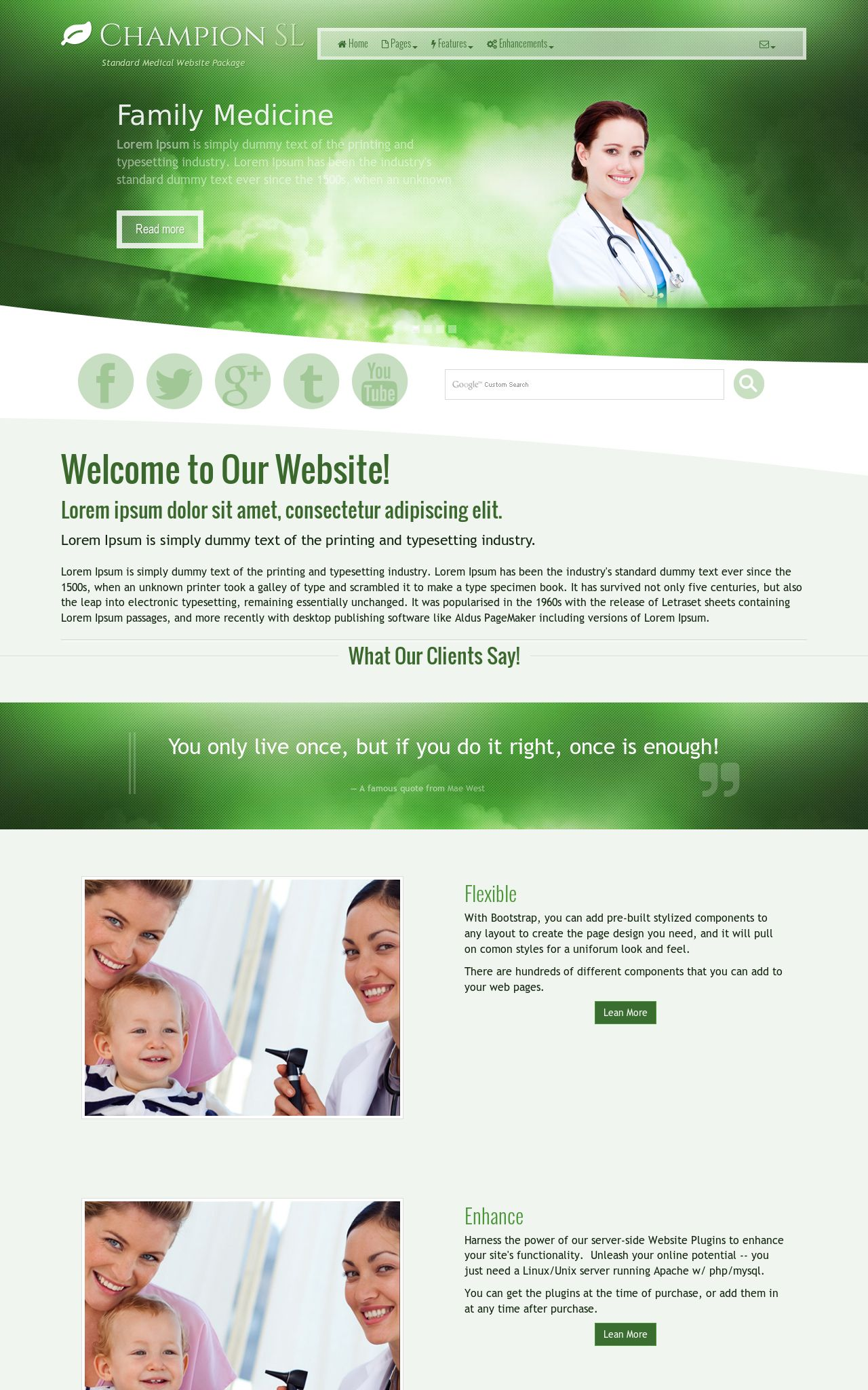 Medical Web Templates